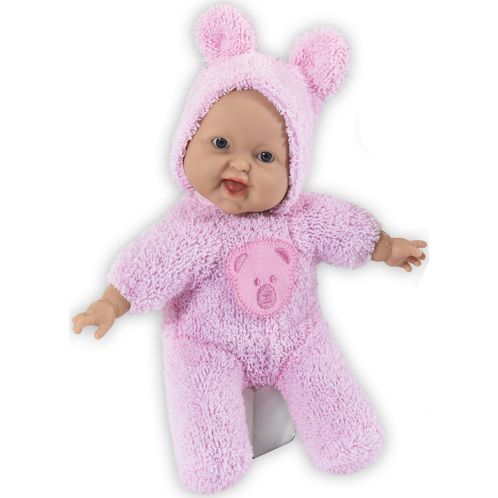 Кукла My Lovely, Loko ToysКуклы<br>Характеристики товара:<br><br>• возраст: от 10 месяцев;<br>• материал: пластик, текстиль, ПВХ;<br>• в комплекте: кукла, комбинезон;<br>• высота куклы: 24 см;<br>• размер упаковки: 29,5х19х8 см;<br>• вес упаковки: 313 гр.;<br>• страна производитель: Китай;<br>• товар представлен в ассортименте, нет возможности выбрать конкретную расцветку.<br><br>Кукла «My Lovely» Loko Toys одета в мягкий комбинезон с капюшоном и забавными ушками. Игра с куклой привьет девочке любовь, чувство ответственности, заботы и помощи окружающим. Пупса можно взять с собой на прогулку, в детский садик, убаюкать его дома и уложить спать с собой в кроватку.<br><br>Куклу «My Lovely» Loko Toys можно приобрести в нашем интернет-магазине.<br><br>Ширина мм: 190<br>Глубина мм: 80<br>Высота мм: 295<br>Вес г: 313<br>Возраст от месяцев: 10<br>Возраст до месяцев: 2147483647<br>Пол: Женский<br>Возраст: Детский<br>SKU: 6759068