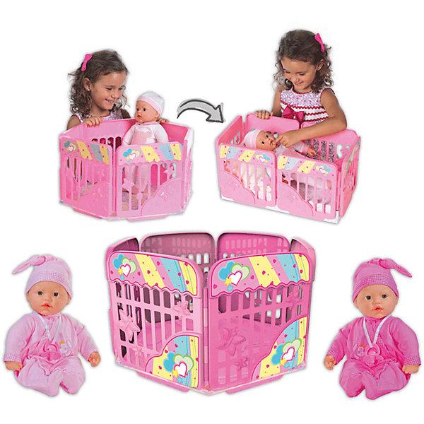 Кукла My Dolly Sucette с игровой площадкой, Loko ToysКуклы<br>Характеристики товара:<br><br>• возраст: от 1,5 лет;<br>• материал: пластик, текстиль, ПВХ;<br>• в комплекте: кукла, игровая площадка, соска;<br>• высота куклы: 37 см;<br>• размер упаковки: 48х38х26 см;<br>• вес упаковки: 1,625 кг;<br>• страна производитель: Китай;<br>• товар представлен в ассортименте, нет возможности выбрать конкретную расцветку.<br><br>Кукла «My Dolly Sucette» Loko Toys с игровой площадкой одета в розовый мягкий костюм и чепчик. Днем кукла будет играть в веселые игры на игровой площадке, окруженной высокими бортиками для безопасности. Вечером, когда пупс захочет поспать, площадка трансформируется в удобную кроватку. Игра с куклой привьет девочке любовь, чувство ответственности, заботы и помощи окружающим. <br><br>Куклу «My Dolly Sucette» Loko Toys с игровой площадкой можно приобрести в нашем интернет-магазине.<br>Ширина мм: 480; Глубина мм: 260; Высота мм: 380; Вес г: 1625; Возраст от месяцев: 18; Возраст до месяцев: 2147483647; Пол: Женский; Возраст: Детский; SKU: 6759070;