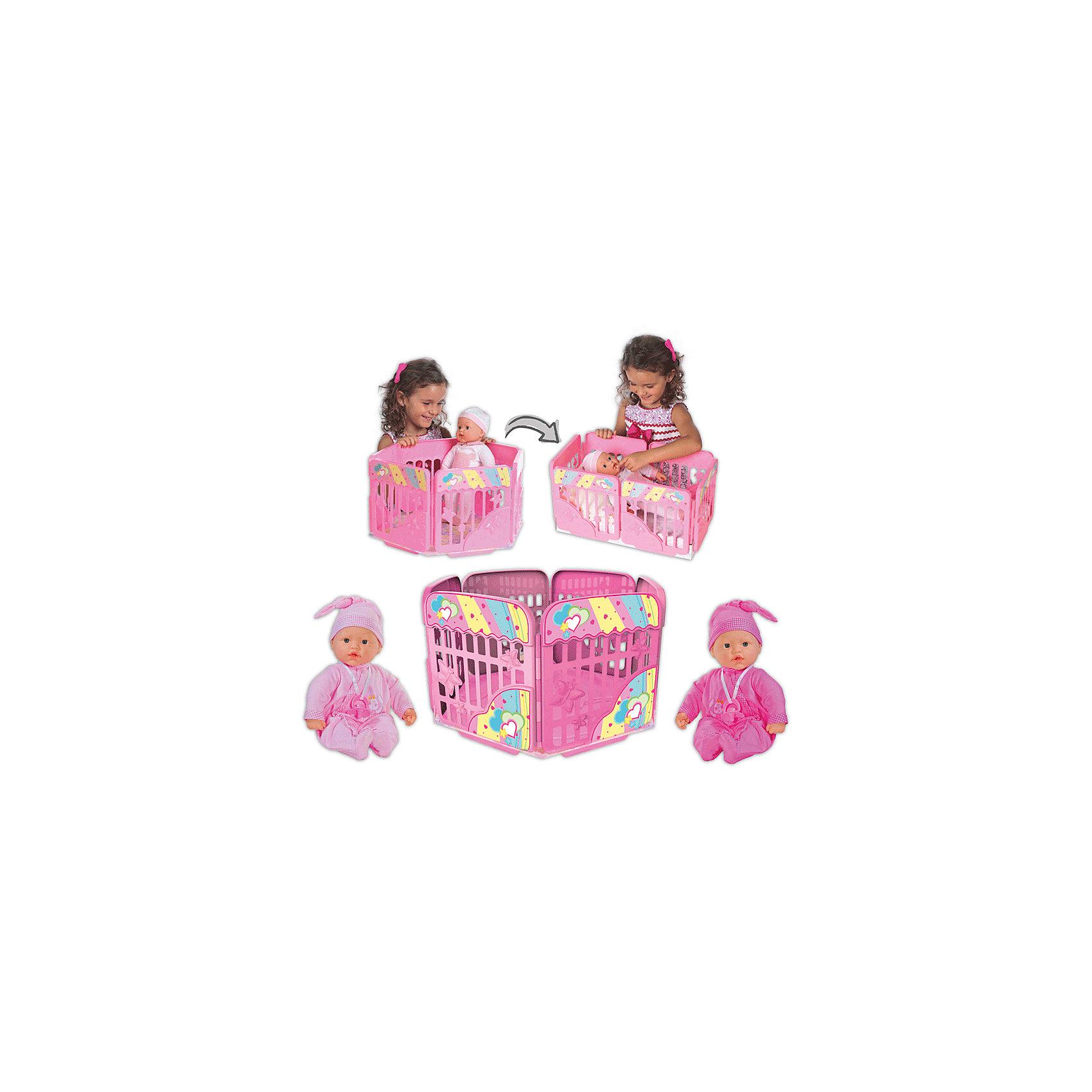 Кукла My Dolly Sucette с игровой площадкой, Loko ToysКуклы-пупсы<br>Характеристики товара:<br><br>• возраст: от 1,5 лет;<br>• материал: пластик, текстиль, ПВХ;<br>• в комплекте: кукла, игровая площадка, соска;<br>• высота куклы: 37 см;<br>• размер упаковки: 48х38х26 см;<br>• вес упаковки: 1,625 кг;<br>• страна производитель: Китай;<br>• товар представлен в ассортименте, нет возможности выбрать конкретную расцветку.<br><br>Кукла «My Dolly Sucette» Loko Toys с игровой площадкой одета в розовый мягкий костюм и чепчик. Днем кукла будет играть в веселые игры на игровой площадке, окруженной высокими бортиками для безопасности. Вечером, когда пупс захочет поспать, площадка трансформируется в удобную кроватку. Игра с куклой привьет девочке любовь, чувство ответственности, заботы и помощи окружающим. <br><br>Куклу «My Dolly Sucette» Loko Toys с игровой площадкой можно приобрести в нашем интернет-магазине.<br><br>Ширина мм: 480<br>Глубина мм: 260<br>Высота мм: 380<br>Вес г: 1625<br>Возраст от месяцев: 18<br>Возраст до месяцев: 2147483647<br>Пол: Женский<br>Возраст: Детский<br>SKU: 6759070