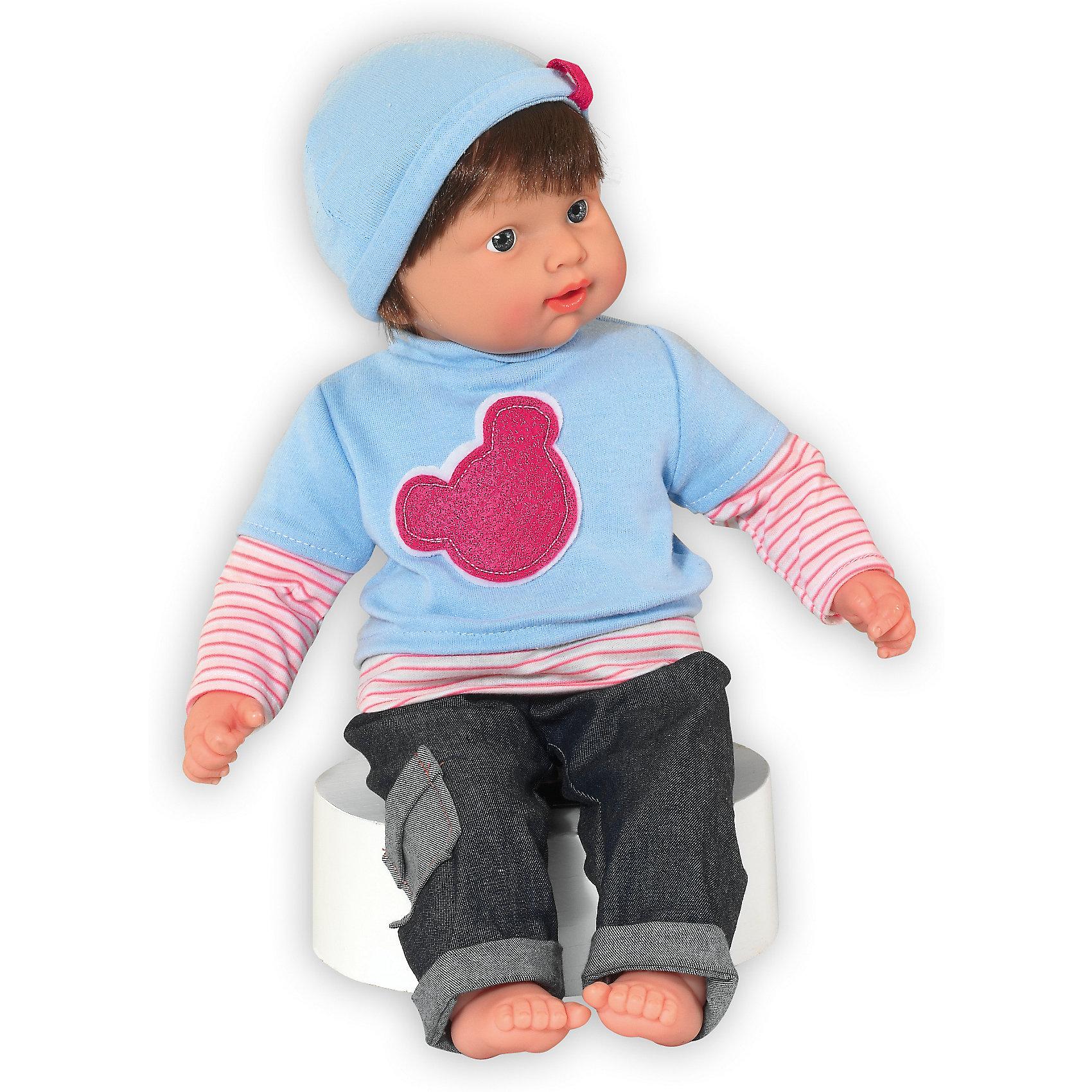 Кукла Baby Pink Мальчик, Loko ToysКлассические куклы<br>Характеристики товара:<br><br>• возраст: от 10 месяцев;<br>• материал: пластик, текстиль, ПВХ;<br>• в комплекте: кукла, соска;<br>• высота куклы: 43 см;<br>• тип батареек: 3 батарейки LR44;<br>• наличие батареек: в комплекте;<br>• размер упаковки: 44х33х12,5 см;<br>• вес упаковки: 855 гр.;<br>• страна производитель: Китай.<br><br>Кукла-мальчик «Baby Pink» Loko Toys одета в стильный свитер с полосатыми рукавами, джинсы и шапочку. Кукла умеет произносить звуки младенца и плакать. Если пупс заплакал, заботливая девочка может дать ему соску, покачать на ручках и успокоить. Игра с куклой привьет девочке любовь, чувство ответственности, заботы и помощи окружающим. <br><br>Куклу-мальчика «Baby Pink» Loko Toys можно приобрести в нашем интернет-магазине.<br><br>Ширина мм: 330<br>Глубина мм: 125<br>Высота мм: 440<br>Вес г: 855<br>Возраст от месяцев: 10<br>Возраст до месяцев: 2147483647<br>Пол: Женский<br>Возраст: Детский<br>SKU: 6759072