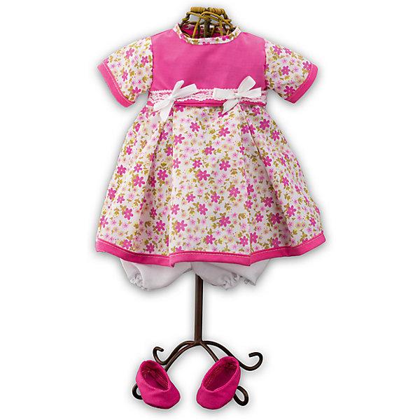 Одежда для куклы девочки Baby Pink, Loko ToysОдежда для кукол<br>Характеристики товара:<br><br>• возраст: от 10 месяцев;<br>• материал: текстиль;<br>• в комплекте: платье, туфли;<br>• размер упаковки: 38х25х2,5 см;<br>• вес упаковки: 225 гр.;<br>• страна производитель: Китай.<br><br>Одежда для куклы-девочки «Baby Pink» Loko Toys — дополнительный комплект одежды для куклы, который дополнит ее гардероб. Комплект состоит из розового платья с цветочным принтом, украшенного бантиками, и розовых туфелек. Вся одежда выполнена из качественных материалов.<br><br>Одежду для куклы-девочки «Baby Pink» Loko Toys можно приобрести в нашем интернет-магазине.<br>Ширина мм: 250; Глубина мм: 55; Высота мм: 380; Вес г: 225; Возраст от месяцев: 10; Возраст до месяцев: 2147483647; Пол: Женский; Возраст: Детский; SKU: 6759076;