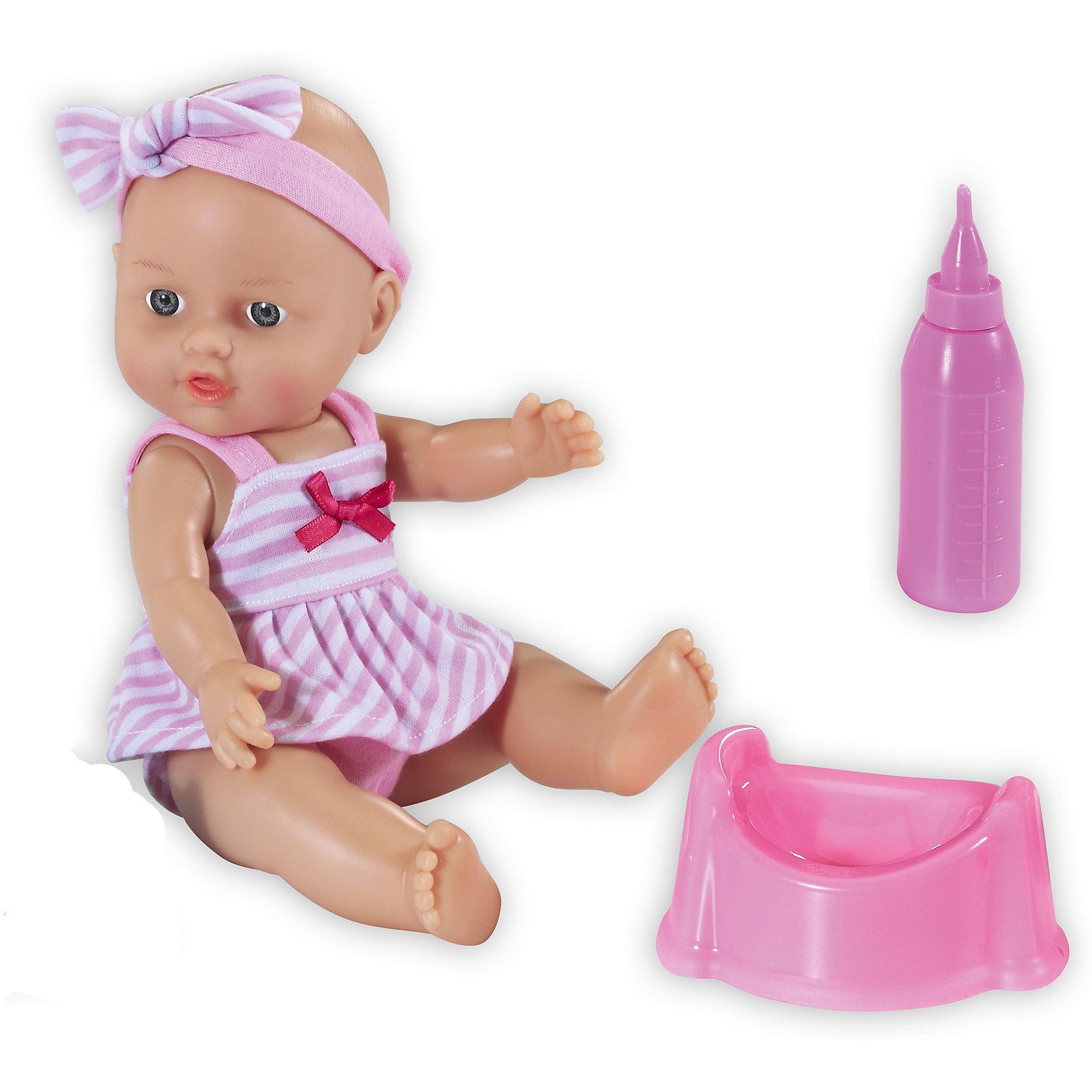 Кукла Le Petit Bebe, Loko ToysКуклы-пупсы<br>Характеристики товара:<br><br>• возраст: от 10 месяцев;<br>• материал: пластик, текстиль, ПВХ;<br>• в комплекте: кукла, бутылочка, горшок;<br>• высота куклы: 30 см;<br>• размер упаковки: 32х19х19,5 см;<br>• вес упаковки: 480 гр.;<br>• страна производитель: Китай;<br>• товар представлен в ассортименте, нет возможности выбрать конкретную расцветку.<br><br>Кукла «Le Petit Bebe» Loko Toys — очаровательный малыш с большими глазками. Когда куколка захочет попить, надо напоить ее водой из бутылочки. После кормления, не стоит забывать посадить куклу на горшок, чтобы она пописала. Игра с куклой привьет девочке любовь, чувство ответственности, заботы и помощи окружающим. <br><br>Куклу «Le Petit Bebe» Loko Toys можно приобрести в нашем интернет-магазине.<br><br>Ширина мм: 190<br>Глубина мм: 195<br>Высота мм: 320<br>Вес г: 480<br>Возраст от месяцев: 10<br>Возраст до месяцев: 2147483647<br>Пол: Женский<br>Возраст: Детский<br>SKU: 6759077