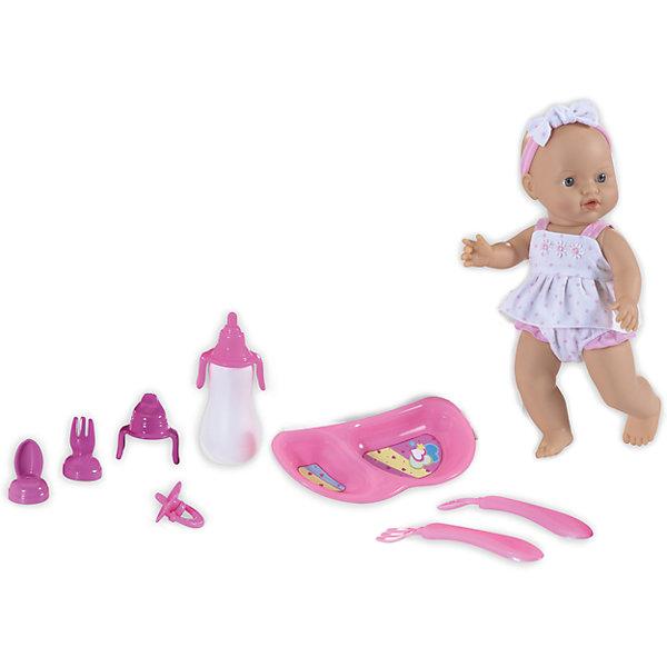 Кукла Le Petit Bebe с аксессуарами для кормления, Loko ToysКуклы<br>Характеристики товара:<br><br>• возраст: от 1,5 лет;<br>• материал: пластик, текстиль, ПВХ;<br>• в комплекте: кукла, бутылочка, ложка, вилка, тарелка, соска, 3 насадки на бутылочку;<br>• высота куклы: 30 см;<br>• размер упаковки: 38х34х10 см;<br>• вес упаковки: 735 гр.;<br>• страна производитель: Китай;<br>• товар представлен в ассортименте, нет возможности выбрать конкретную расцветку.<br><br>Кукла «Le Petit Bebe» Loko Toys с аксессуарами для кормления — очаровательный малыш с большими глазками. В наборе предусмотрены все необходимые предметы для кормления малыша. Вилка, ложечка и тарелка помогут накормить малыша вкусной едой. Когда малыш захочет попить, на помощь придет удобная бутылочка. Игра с куклой привьет девочке любовь, чувство ответственности, заботы и помощи окружающим. <br><br>Куклу «Le Petit Bebe» Loko Toys с аксессуарами для кормления можно приобрести в нашем интернет-магазине.<br><br>Ширина мм: 380<br>Глубина мм: 100<br>Высота мм: 340<br>Вес г: 735<br>Возраст от месяцев: 18<br>Возраст до месяцев: 2147483647<br>Пол: Женский<br>Возраст: Детский<br>SKU: 6759078