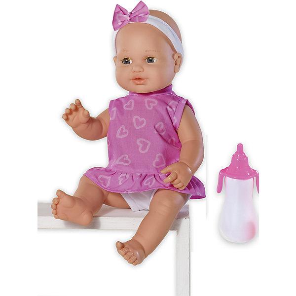 Кукла Le b?b? Пью и писаю, 43 см, Loko ToysКуклы<br>Характеристики товара:<br><br>• возраст: от 10 месяцев;<br>• материал: пластик, текстиль, ПВХ;<br>• в комплекте: кукла, бутылочка;<br>• высота куклы: 43 см;<br>• размер упаковки: 41х28х12,5 см;<br>• вес упаковки: 850 гр.;<br>• страна производитель: Китай;<br>• товар представлен в ассортименте, нет возможности выбрать конкретную расцветку.<br><br>Кукла «Le Bebe: Пью и писаю» Loko Toys одета в розовое платье, а на голове — повязка с бантиком. Как только куколка попьет из бутылочки воду, она сразу захочет сходить на горшок и пописать. Пупса можно брать на прогулку, в детский садик, покачать на ручках и укладывать дома спать. Игра с куклой привьет девочке любовь, чувство ответственности, заботы и помощи окружающим. <br><br>Куклу «Le Bebe: Пью и писаю» Loko Toys можно приобрести в нашем интернет-магазине.<br>Ширина мм: 280; Глубина мм: 125; Высота мм: 410; Вес г: 850; Возраст от месяцев: 10; Возраст до месяцев: 2147483647; Пол: Женский; Возраст: Детский; SKU: 6759080;