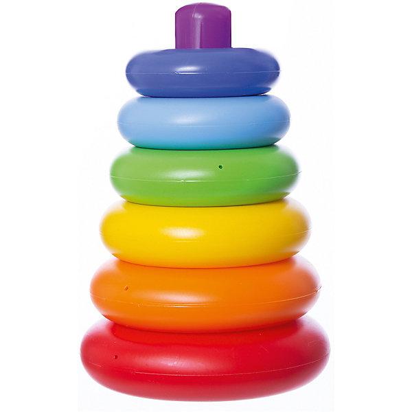 Пирамидка Колечко, 7 элементов, ПолесьеРазвивающие игрушки<br>Характеристики товара:<br><br>• возраст: от 12 мес.<br>• комплект: стержень, 7 колец.<br>• материал: пластмасса.<br>• диаметр нижнего кольца: 13,5 см.<br>• высота: 20,3 см.<br>• упаковка: сетка.<br>• страна бренда: Белоруссия.<br><br>Яркая пирамидка представляет собой стержень и колечки, которые необходимо нанизывать, для получения фигуры в виде конуса. Колечки окрашены в яркие цвета радуги. <br><br>Особенностью пирамидки является отсутствие замыкающего кольца. При нажатии на элементы пирамидки, пластмасса не продавливается.<br><br>Пирамидку Колечко, 7 элементов, Полесье можно купить в нашем интернет-магазине.<br><br>Ширина мм: 135<br>Глубина мм: 20<br>Высота мм: 207<br>Вес г: 188<br>Возраст от месяцев: 12<br>Возраст до месяцев: 2147483647<br>Пол: Унисекс<br>Возраст: Детский<br>SKU: 6760712