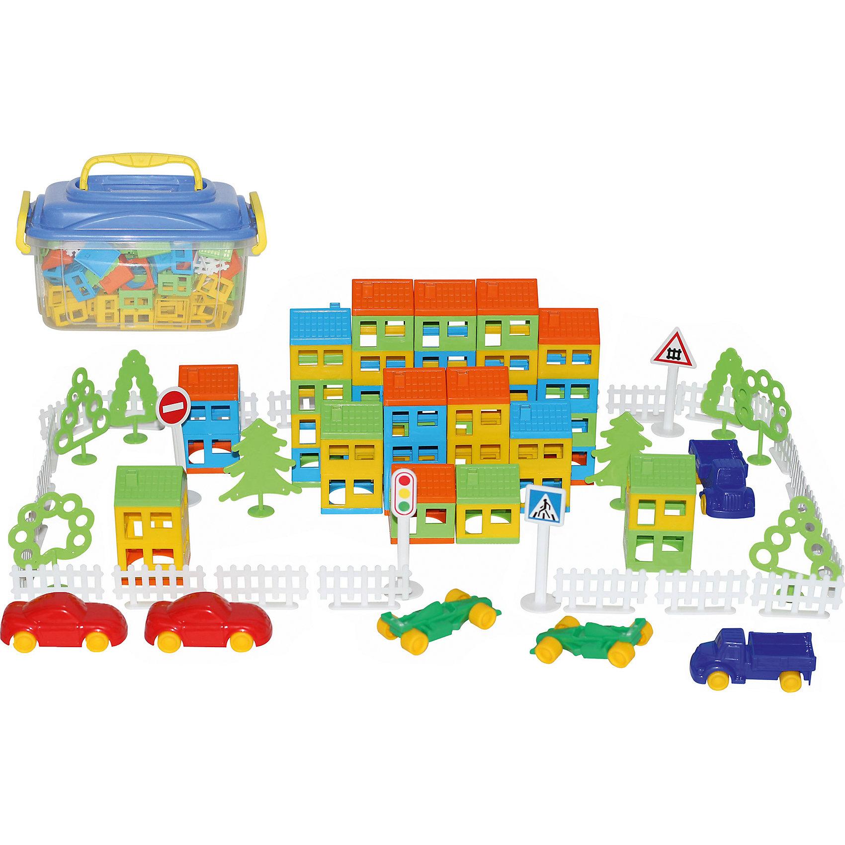 Конструктор Построй свой город, 180 элементов, ПолесьеПластмассовые конструкторы<br>Характеристики товара:<br><br>• возраст: от 3 лет<br>• количество деталей: 180 шт.<br>• материал: пластик<br>• размер упаковки: 37х25х21 см.<br>• упаковка: контейнер<br>• страна бренда: Беларусь<br><br>Конструктор Построй свой город позволяет построить целый город с домами разной этажности, дорожными знаками и деревьями.<br><br>Конструктор Построй свой город, 180 элементов, Полесье можно уупить в нашем интернет-магазине.<br><br>Ширина мм: 370<br>Глубина мм: 255<br>Высота мм: 207<br>Вес г: 1595<br>Возраст от месяцев: 36<br>Возраст до месяцев: 2147483647<br>Пол: Унисекс<br>Возраст: Детский<br>SKU: 6760725