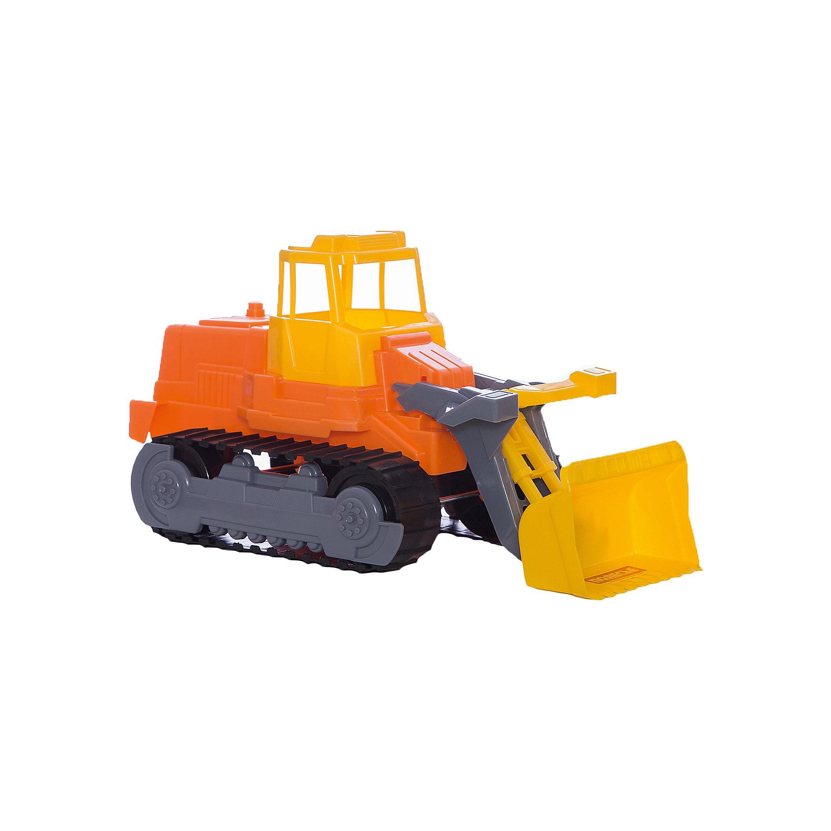 Гусеничный трактор-погрузчик, ПолесьеМашинки<br>Характеристики товара:<br><br>• возраст: от 3 лет<br>• материал: пластик<br>• размер упаковки: 43х22х23,5 см.<br>• страна бренда: Беларусь.<br><br>Благодаря этому гусеничному трактору-погрузчику с подвижным ковшом можно набирать в ковш небольшие предметы. Гусеничный механизм выглядит совсем как настоящий. <br><br>Дизайн игрушки соответствует реальной машине. Игрушка создается по лицензии итальянской фирмы Cavallino Giocattoli, Srl.<br><br>Внимание! Цвет в ассортименте.<br><br>Гусеничный трактор-погрузчик, Полесье можно купить в нашем интернет-магазине.<br><br>Ширина мм: 440<br>Глубина мм: 220<br>Высота мм: 230<br>Вес г: 633<br>Возраст от месяцев: 36<br>Возраст до месяцев: 2147483647<br>Пол: Мужской<br>Возраст: Детский<br>SKU: 6760754