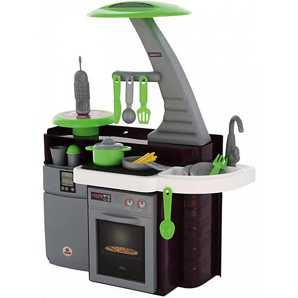 Набор Кухня Laura, ПолесьеДетские кухни<br>Характеристики товара:<br><br>• возраст: от 3 лет<br>• комплект: варочная панель, духовка, мойка, разделочные столики, холодильник, набор посуды, радиотелефон.<br>• наличие батареек: входят в комплект.<br>• тип батареек: 3 х АА / LR6 1.5 V (пальчиковые).<br>• материал: пластик.<br>• размер упаковки: 50.5х29х40 см.<br>• размер кухни в собранном виде: 61х34х75 см.<br>• страна бренда: Беларусь.<br><br>Интересная игрушечная детская кухня Лаура от бренда Полесьепозволит девочке уже с самого раннего возраста почувствовать себя настоящей хозяйкой. <br><br>В комплект входят все необходимые предметы для успешной готовки: плита, духовка, мойка, разделочные столики, холодильник, а также множество различных аксессуаров в виде посуды и телефона, с которыми игра станет намного интереснее. <br><br>Также кухня оснащена световыми и звуковыми эффектами.<br><br>Внимание! Товар представлен в ассортименте без возможности выбора. Цветовое исполнение товара может варьироваться. <br><br>Набор Кухня Лаура, Полесье можно купить в нашем интернет-магазине.<br><br>Ширина мм: 505<br>Глубина мм: 290<br>Высота мм: 400<br>Вес г: 2504<br>Возраст от месяцев: 36<br>Возраст до месяцев: 2147483647<br>Пол: Женский<br>Возраст: Детский<br>SKU: 6760772