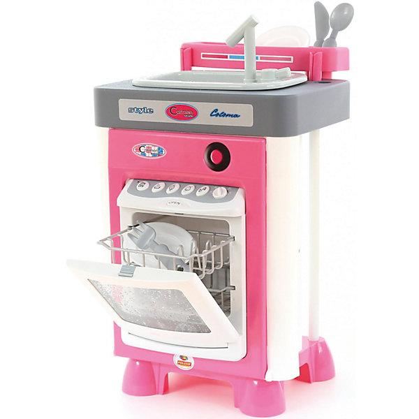 Кухня Carmen №3, ПолесьеДетские кухни<br>Характеристики товара:<br><br>• возраст: от 3 лет<br>• материал: пластмасса.<br>• размер упаковки: 31х28х46 cм<br>• комплект: посудомоечная машина, ложка, вилка, нож, 2 тарелки, лоток для столовых приборов.<br>• тип батареек: 5 x AA / LR6 1.5V (пальчиковые).<br>• размер посудомоечной машины в собранном виде: 31 х 35 х 56.5 см.<br>• страна бренда: Беларусь.<br><br>Игровой набор Carmen №3 от бренда Полесье предназначен для маленьких девочек и выполнен в бело-розовой цветовой гамме. <br><br>Посудомоечная машина снабжена звуковыми и световыми модулями. При открывании и закрывании дверцы посудомоечной машины слышится звуковой сигнал. При включении машины вода из специального резервуара разбрызгивается на стекло, создавая эффект реальной работы.<br>При наличии воды в мойке, специальный насос начинает перекачивать воду для того, чтобы она лилась из крана. <br><br>В наборе также присутствует игрушечная посуда, столовые приборы и лоток для них.<br><br>Кухня Carmen №3, Полесье можно купить в нашем интернет-магазине.<br><br>Ширина мм: 315<br>Глубина мм: 300<br>Высота мм: 445<br>Вес г: 3251<br>Возраст от месяцев: 36<br>Возраст до месяцев: 2147483647<br>Пол: Женский<br>Возраст: Детский<br>SKU: 6760779
