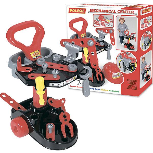 Набор Механик, ПолесьеНаборы инструментов<br>Характеристики товара:<br><br>• возраст: от 3 лет<br>• материал: пластмасса.<br>• размер упаковки: 43.5х13х48.7 см.<br>• комплект: тележка механика; тиски; плоскогубцы; гаечный ключ; отвертка; каска; 4 винта; 4 гайки; два уголка; 6 панелек с отверстиями.<br>• страна обладатель бренда: Беларусь.<br><br>Набор Механик обязательно понравится вашему мальчику. Он содержит в себе огромное количество инструментов, а также великолепную каску. <br><br>Набор позволит вашему ребенку почувствовать себя настоящим мастером. Благодаря нему ранних лет ваш малыш будет знать, как пользоваться всеми необходимыми инструментами.<br><br>Набор Механик, Полесье можно купить в нашем интернет-магазине.<br>Ширина мм: 435; Глубина мм: 135; Высота мм: 490; Вес г: 1543; Возраст от месяцев: 36; Возраст до месяцев: 2147483647; Пол: Мужской; Возраст: Детский; SKU: 6760787;