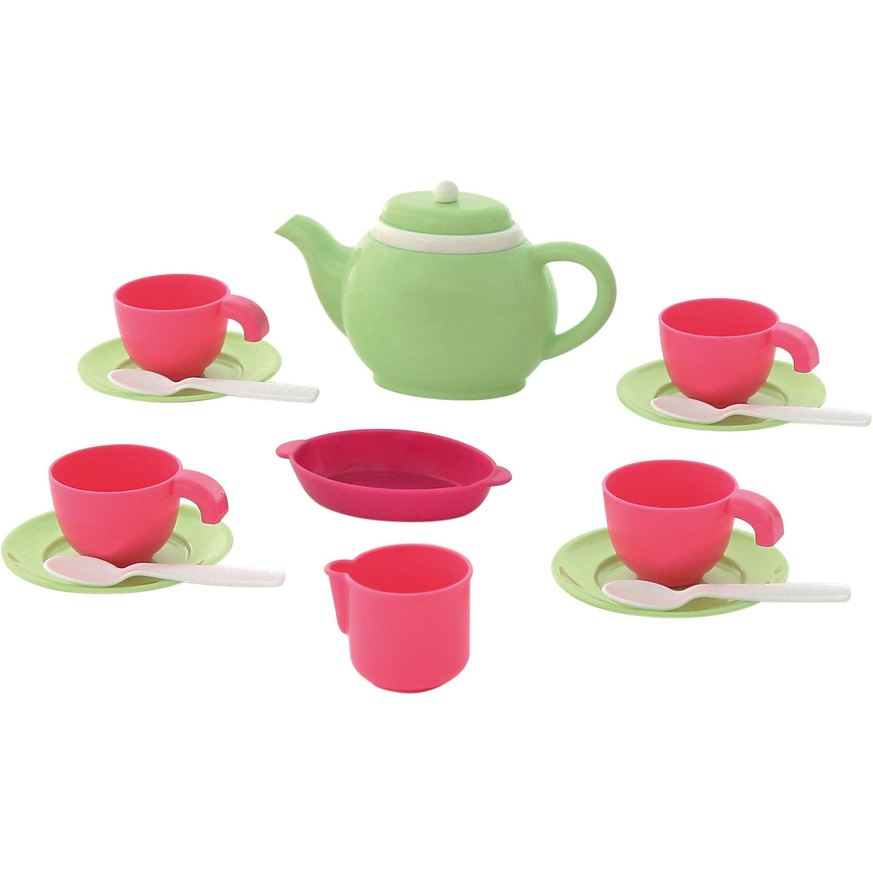 Набор детской посуды, 16 элементов, ПолесьеПосуда и аксессуары для детской кухни<br>Характеристики товара:<br><br>• возраст: от 3 лет<br>• материал: пластмасса<br>• размер упаковки: 18х14х10 см<br>• страна обладатель бренда: Беларусь.<br><br>Набор детской посуды Минутка с чайником, Полесье предназначен для четырех кукольных персон.<br><br>В наборе: чайник с крышкой, 4 тарелки, 4 чашки, 4 ложки, сахарница, салатница. <br><br>Набор детской посуды, 16 элементов, Полесье можно купить в нашем интернет-магазине.<br><br>Ширина мм: 170<br>Глубина мм: 140<br>Высота мм: 100<br>Вес г: 192<br>Возраст от месяцев: 36<br>Возраст до месяцев: 2147483647<br>Пол: Женский<br>Возраст: Детский<br>SKU: 6760799