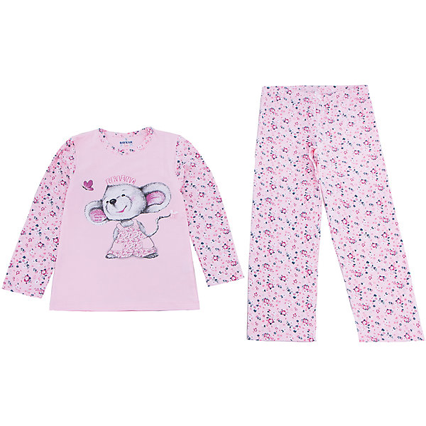 Пижама для девочки BaykarПижамы и сорочки<br>Характеристики товара:<br><br>• цвет: розовый<br>• состав ткани: 95% хлопок; 5% эластан<br>• комплектация: кофта, брюки<br>• пояс брюк: резинка<br>• сезон: круглый год<br>• страна бренда: Турция<br>• страна изготовитель: Турция<br><br>Правильно подобранная пижама для девочки позволяет обеспечить комфортный сон. Этот комплект для сна из кофты и брюк сделан из мягкого дышащего материала. <br><br>Материал с преобладание хлопка в составе отлично подходит для одежды для сна. Пижама для девочки Baykar украшена симпатичным принтом. <br><br>Пижаму для девочки Baykar (Байкар) можно купить в нашем интернет-магазине.<br>Ширина мм: 281; Глубина мм: 70; Высота мм: 188; Вес г: 295; Цвет: белый; Возраст от месяцев: 72; Возраст до месяцев: 84; Пол: Женский; Возраст: Детский; Размер: 116/122,98/104,104/110,110/116; SKU: 6764724;