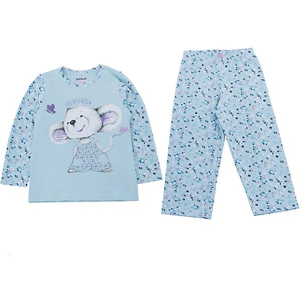 Пижама для девочки BaykarПижамы и сорочки<br>Характеристики товара:<br><br>• цвет: голубой<br>• состав ткани: 95% хлопок; 5% эластан<br>• комплектация: кофта, брюки<br>• пояс брюк: резинка<br>• сезон: круглый год<br>• страна бренда: Турция<br>• страна изготовитель: Турция<br><br>Голубая пижама для девочки Baykar украшена симпатичным принтом. Этот комплект для сна из кофты и брюк сделан из мягкого дышащего материала. <br><br>Свободный крой обеспечивает комфортную посадку. Качественная пижама для девочки позволяет обеспечить комфортный сон.<br><br>Пижаму для девочки Baykar (Байкар) можно купить в нашем интернет-магазине.<br><br>Ширина мм: 281<br>Глубина мм: 70<br>Высота мм: 188<br>Вес г: 295<br>Цвет: белый<br>Возраст от месяцев: 72<br>Возраст до месяцев: 84<br>Пол: Женский<br>Возраст: Детский<br>Размер: 116/122,98/104,110/116,104/110<br>SKU: 6764734