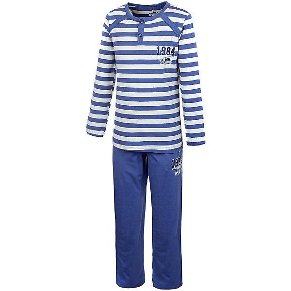 Пижама для мальчика BaykarПижамы и сорочки<br>Характеристики товара:<br><br>• цвет: синий<br>• состав ткани: 95% хлопок; 5% эластан<br>• комплектация: кофта, брюки<br>• пояс брюк: резинка<br>• сезон: круглый год<br>• страна бренда: Турция<br>• страна изготовитель: Турция<br><br>Пижама для мальчика Baykar украшена симпатичным принтом. Этот комплект для сна из кофты и брюк сделан из мягкого дышащего материала. <br><br>Продуманный крой обеспечивает комфортную посадку. Качественная пижама для мальчика позволяет обеспечить комфортный сон.<br><br>Пижаму для мальчика Baykar (Байкар) можно купить в нашем интернет-магазине.<br><br>Ширина мм: 281<br>Глубина мм: 70<br>Высота мм: 188<br>Вес г: 295<br>Цвет: белый<br>Возраст от месяцев: 36<br>Возраст до месяцев: 48<br>Пол: Мужской<br>Возраст: Детский<br>Размер: 98/104,110/116,116/122,104/110<br>SKU: 6764749