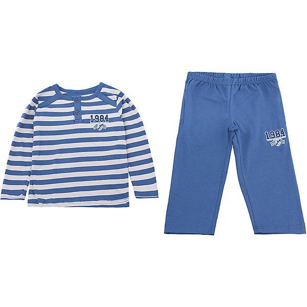Пижама для мальчика BaykarПижамы и сорочки<br>Характеристики товара:<br><br>• цвет: синий<br>• состав ткани: 95% хлопок; 5% эластан<br>• комплектация: кофта, брюки<br>• пояс брюк: резинка<br>• сезон: круглый год<br>• страна бренда: Турция<br>• страна изготовитель: Турция<br><br>Качественная пижама для мальчика позволяет обеспечить комфортный сон. Пижама для мальчика Baykar украшена симпатичным принтом. <br><br>Этот комплект для сна из кофты и брюк сделан из мягкого дышащего материала. Продуманный крой обеспечивает комфортную посадку. <br><br>Пижаму для мальчика Baykar (Байкар) можно купить в нашем интернет-магазине.<br>Ширина мм: 281; Глубина мм: 70; Высота мм: 188; Вес г: 295; Цвет: белый; Возраст от месяцев: 18; Возраст до месяцев: 24; Пол: Мужской; Возраст: Детский; Размер: 80/92,92/98; SKU: 6764754;