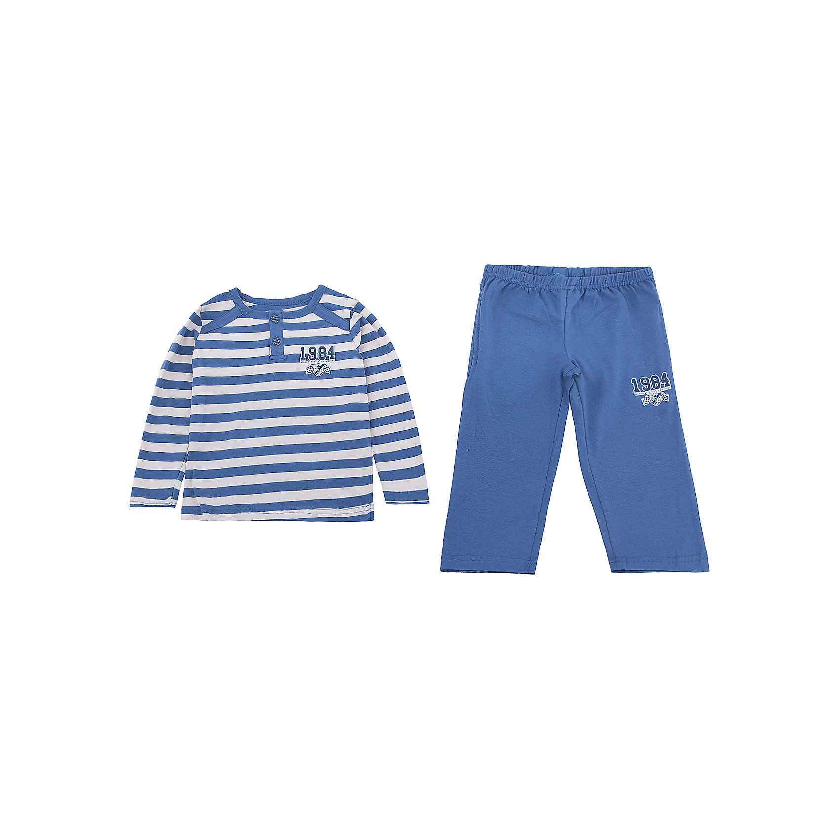 Пижама для мальчика BaykarПижамы и сорочки<br>Характеристики товара:<br><br>• цвет: синий<br>• состав ткани: 95% хлопок; 5% эластан<br>• комплектация: кофта, брюки<br>• пояс брюк: резинка<br>• сезон: круглый год<br>• страна бренда: Турция<br>• страна изготовитель: Турция<br><br>Качественная пижама для мальчика позволяет обеспечить комфортный сон. Пижама для мальчика Baykar украшена симпатичным принтом. <br><br>Этот комплект для сна из кофты и брюк сделан из мягкого дышащего материала. Продуманный крой обеспечивает комфортную посадку. <br><br>Пижаму для мальчика Baykar (Байкар) можно купить в нашем интернет-магазине.<br><br>Ширина мм: 281<br>Глубина мм: 70<br>Высота мм: 188<br>Вес г: 295<br>Цвет: белый<br>Возраст от месяцев: 24<br>Возраст до месяцев: 36<br>Пол: Мужской<br>Возраст: Детский<br>Размер: 92/98,80/92<br>SKU: 6764754