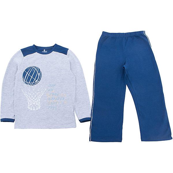 Пижама для мальчика BaykarПижамы и сорочки<br>Характеристики товара:<br><br>• цвет: синий<br>• состав ткани: 95% хлопок; 5% эластан<br>• комплектация: кофта, брюки<br>• пояс брюк: резинка<br>• сезон: круглый год<br>• страна бренда: Турция<br>• страна изготовитель: Турция<br><br>Пижама для мальчика Baykar украшена симпатичным принтом. Этот комплект для сна из кофты и брюк сделан из мягкого дышащего материала. <br><br>Продуманный крой обеспечивает комфортную посадку. Качественная пижама для мальчика позволяет обеспечить комфортный сон.<br><br>Пижаму для мальчика Baykar (Байкар) можно купить в нашем интернет-магазине.<br><br>Ширина мм: 281<br>Глубина мм: 70<br>Высота мм: 188<br>Вес г: 295<br>Цвет: белый<br>Возраст от месяцев: 84<br>Возраст до месяцев: 96<br>Пол: Мужской<br>Возраст: Детский<br>Размер: 122/128,140/146,134/140,128/134<br>SKU: 6764772
