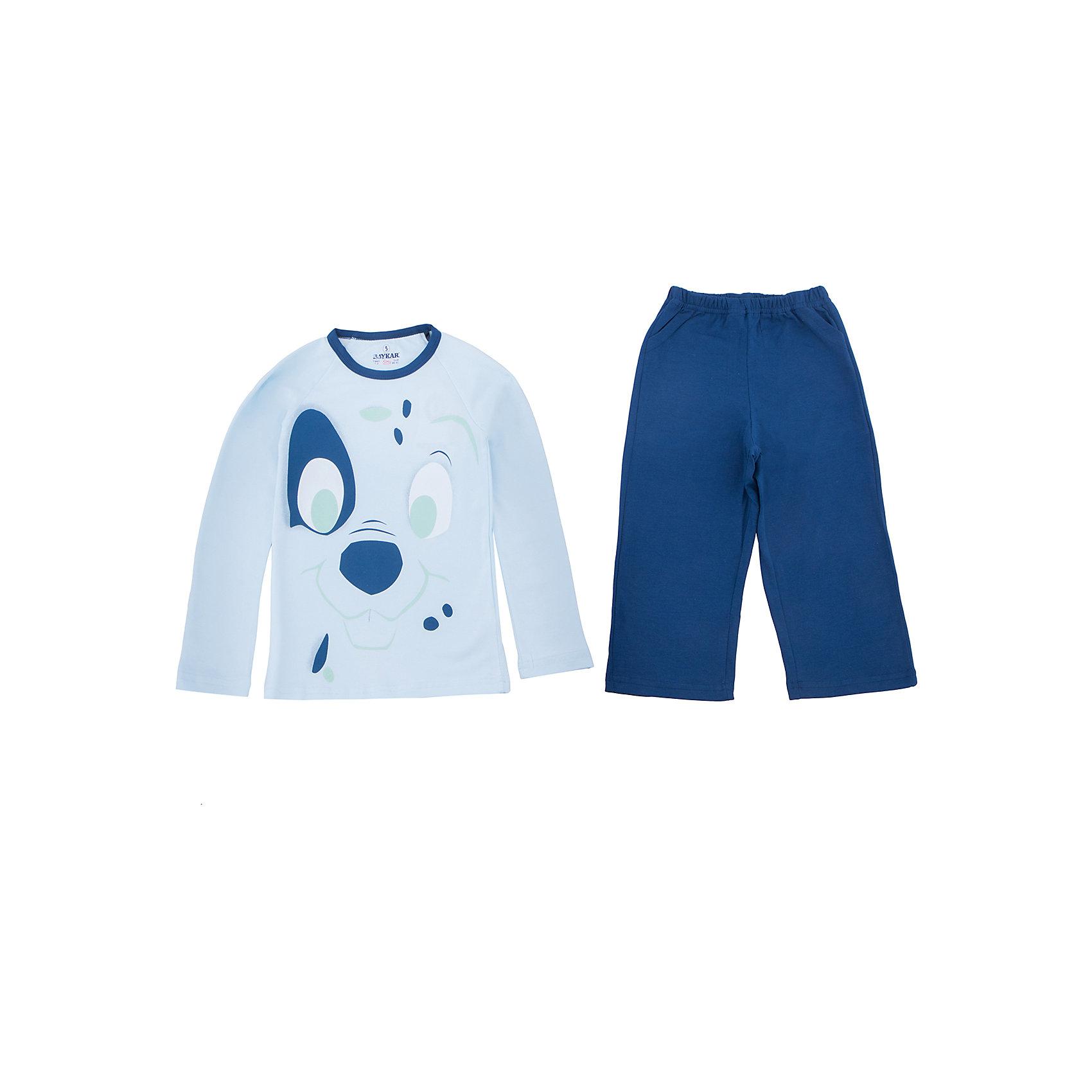 Пижама для мальчика BaykarПижамы и сорочки<br>Характеристики товара:<br><br>• цвет: синий<br>• состав ткани: 95% хлопок; 5% эластан<br>• комплектация: кофта, брюки<br>• пояс брюк: резинка<br>• сезон: круглый год<br>• страна бренда: Турция<br>• страна изготовитель: Турция<br><br>Правильная пижама для мальчика позволяет обеспечить комфортный сон. Пижама для мальчика Baykar украшена симпатичным принтом. <br><br>Этот комплект для сна из кофты и брюк сделан из мягкого дышащего материала. Продуманный крой обеспечивает комфортную посадку. <br><br>Пижаму для мальчика Baykar (Байкар) можно купить в нашем интернет-магазине.<br><br>Ширина мм: 281<br>Глубина мм: 70<br>Высота мм: 188<br>Вес г: 295<br>Цвет: синий<br>Возраст от месяцев: 24<br>Возраст до месяцев: 36<br>Пол: Мужской<br>Возраст: Детский<br>Размер: 92/98,80/92<br>SKU: 6764782