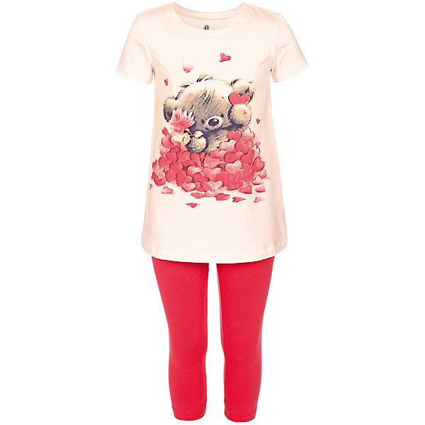 Пижама для девочки BaykarПижамы и сорочки<br>Характеристики товара:<br><br>• цвет: розовый<br>• состав ткани: 95% хлопок; 5% эластан<br>• комплектация: туника, капри<br>• пояс брюк: резинка<br>• сезон: круглый год<br>• страна бренда: Турция<br>• страна изготовитель: Турция<br><br>Пижама для девочки Baykar украшена симпатичным принтом. Этот комплект для сна из туники и брюк-капри сделан из мягкого дышащего материала. <br><br>Продуманный крой обеспечивает комфортную посадку. Голубая пижама для девочки позволяет обеспечить комфортный сон.<br><br>Пижаму для девочки Baykar (Байкар) можно купить в нашем интернет-магазине.<br><br>Ширина мм: 281<br>Глубина мм: 70<br>Высота мм: 188<br>Вес г: 295<br>Цвет: белый<br>Возраст от месяцев: 84<br>Возраст до месяцев: 96<br>Пол: Женский<br>Возраст: Детский<br>Размер: 122/128,134/140,140/146,128/134<br>SKU: 6764790