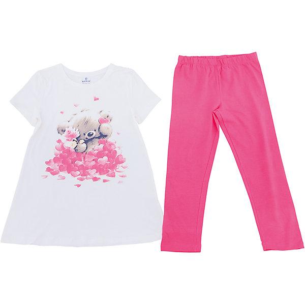 Пижама для девочки BaykarПижамы и сорочки<br>Характеристики товара:<br><br>• цвет: белый<br>• состав ткани: 95% хлопок; 5% эластан<br>• пояс: резинка<br>• комплектация: туника, капри<br>• сезон: круглый год<br>• страна бренда: Турция<br>• страна изготовитель: Турция<br><br>Качественная пижама для ребенка должна быть сделана из мягкого и дышащего материала. Комплект для сна для девочки от турецкого бренда Baykar позволит обеспечить детям удобство.<br><br>Пижама декорирована симпатичным принтом. Материал - с преобладанием хлопка в составе.<br><br>Пижаму для девочки Baykar (Байкар) можно купить в нашем интернет-магазине.<br><br>Ширина мм: 281<br>Глубина мм: 70<br>Высота мм: 188<br>Вес г: 295<br>Цвет: белый<br>Возраст от месяцев: 168<br>Возраст до месяцев: 180<br>Пол: Женский<br>Возраст: Детский<br>Размер: 164/170,152/158,158/164<br>SKU: 6764795