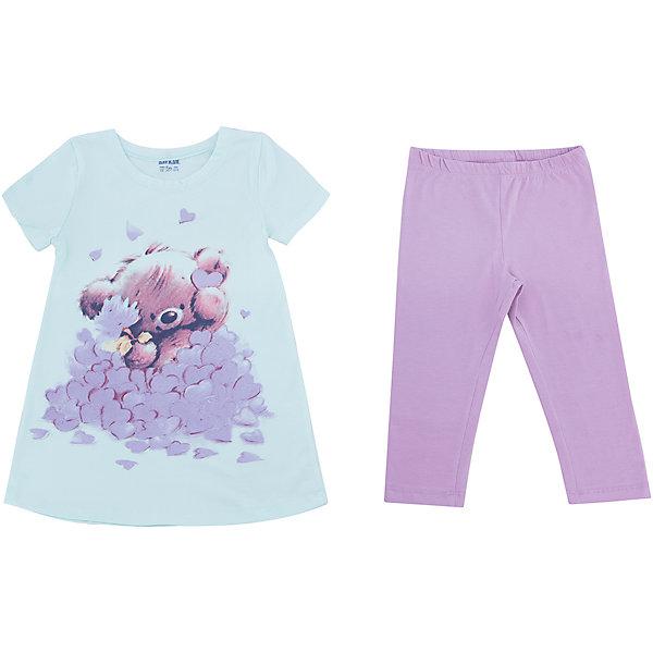 Пижама для девочки BaykarПижамы и сорочки<br>Характеристики товара:<br><br>• цвет: зеленый<br>• состав ткани: 95% хлопок; 5% эластан<br>• комплектация: туника, капри<br>• пояс брюк: резинка<br>• сезон: круглый год<br>• страна бренда: Турция<br>• страна изготовитель: Турция<br><br>Хорошо подобранная пижама для девочки позволяет обеспечить комфортный сон. Этот комплект для сна из туники и брюк-капри сделан из мягкого дышащего материала. <br><br>Качественный материал с преобладание хлопка в составе отлично подходит для одежды для сна. Пижама для девочки Baykar украшена симпатичным принтом. <br><br>Пижаму для девочки Baykar (Байкар) можно купить в нашем интернет-магазине.<br><br>Ширина мм: 281<br>Глубина мм: 70<br>Высота мм: 188<br>Вес г: 295<br>Цвет: зеленый<br>Возраст от месяцев: 72<br>Возраст до месяцев: 84<br>Пол: Женский<br>Возраст: Детский<br>Размер: 116/122,98/104,104/110,110/116<br>SKU: 6764799