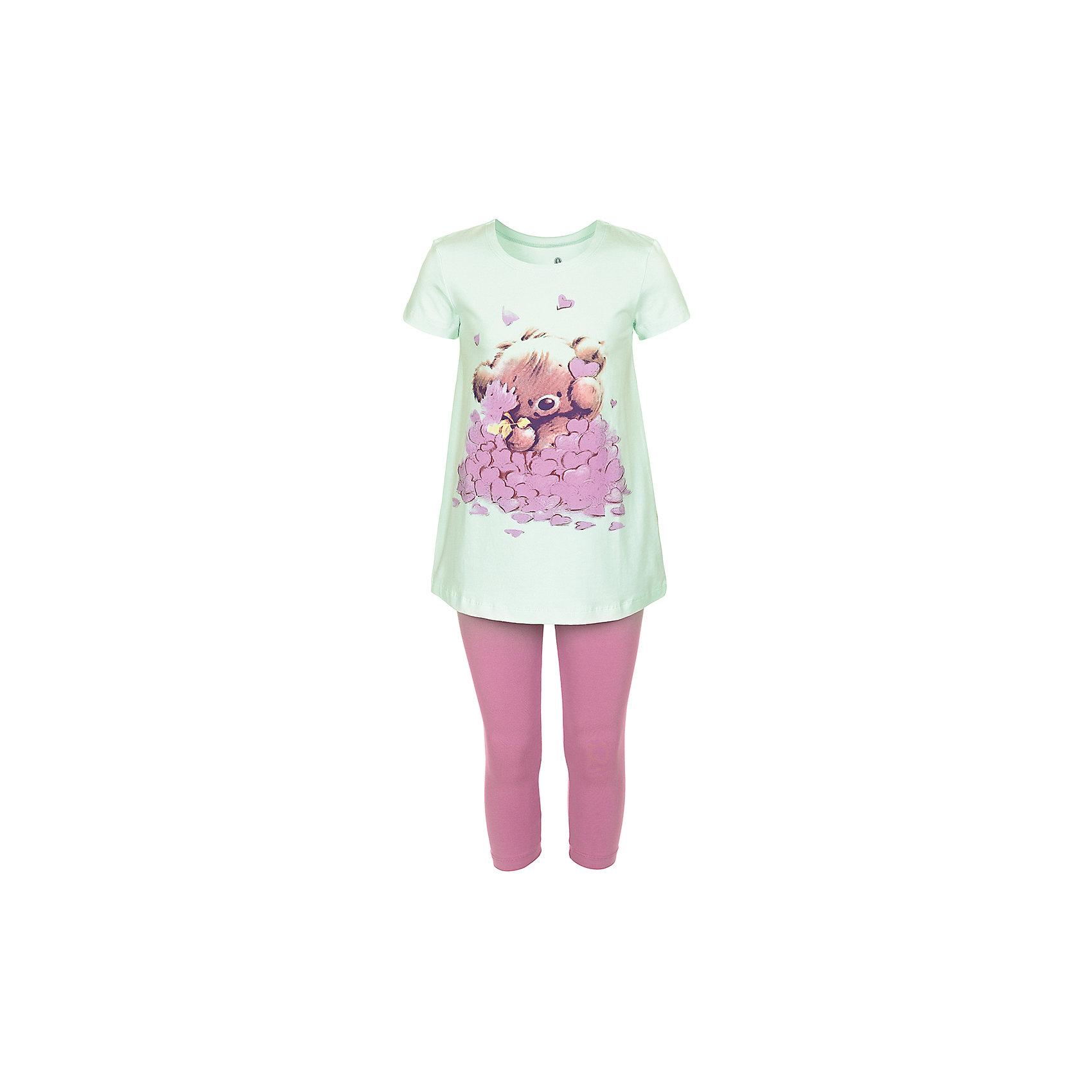 Пижама для девочки BaykarПижамы и сорочки<br>Характеристики товара:<br><br>• цвет: зеленый<br>• состав ткани: 95% хлопок; 5% эластан<br>• комплектация: туника, капри<br>• пояс брюк: резинка<br>• сезон: круглый год<br>• страна бренда: Турция<br>• страна изготовитель: Турция<br><br>Симпатичная пижама для девочки Baykar украшена симпатичным принтом. Этот комплект для сна из туники и брюк-капри сделан из мягкого дышащего материала. <br><br>Продуманный крой обеспечивает комфортную посадку. Голубая пижама для девочки позволяет обеспечить комфортный сон.<br><br>Пижаму для девочки Baykar (Байкар) можно купить в нашем интернет-магазине.<br><br>Ширина мм: 281<br>Глубина мм: 70<br>Высота мм: 188<br>Вес г: 295<br>Цвет: зеленый<br>Возраст от месяцев: 120<br>Возраст до месяцев: 132<br>Пол: Женский<br>Возраст: Детский<br>Размер: 140/146,134/140,122/128,128/134<br>SKU: 6764804