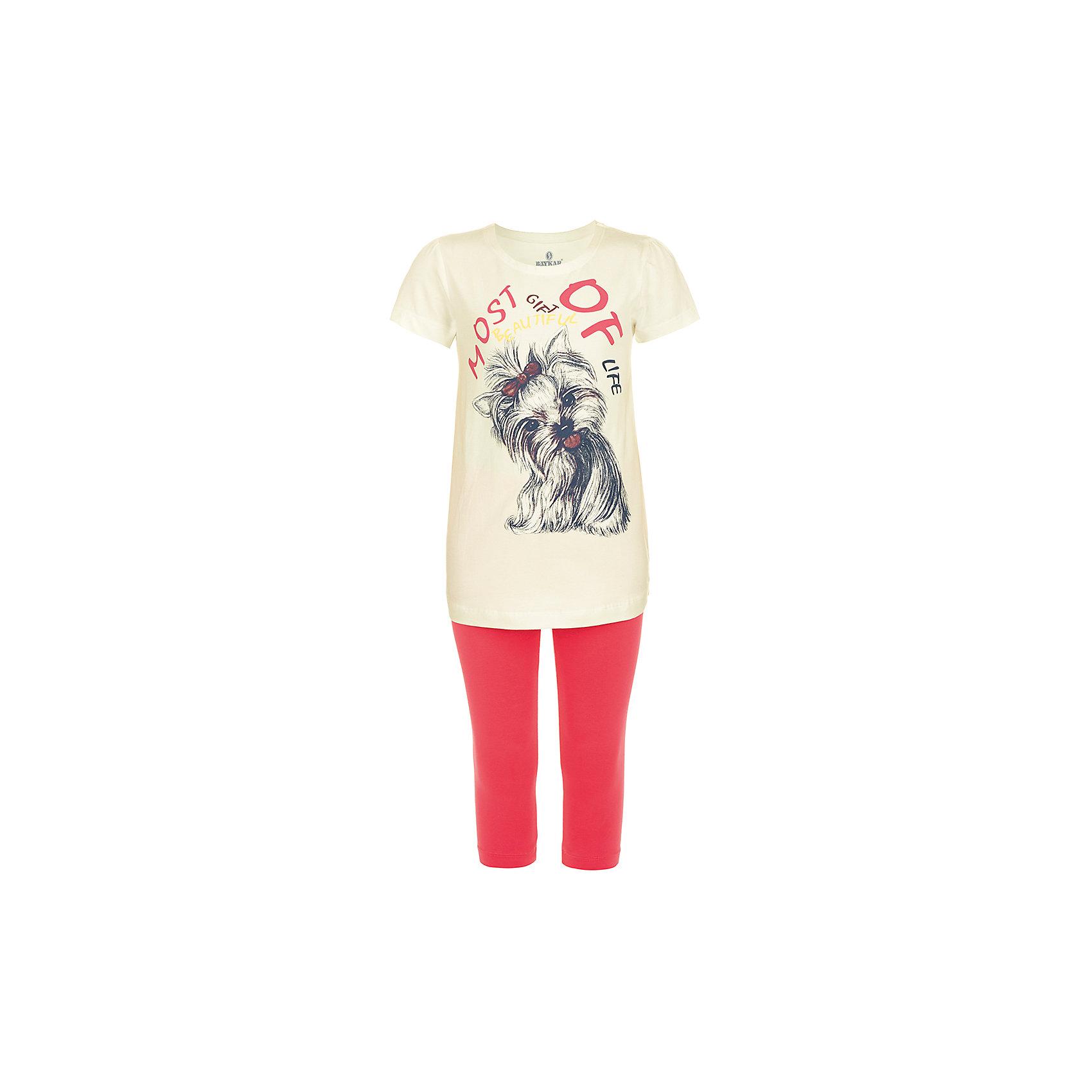 Пижама для девочки BaykarПижамы и сорочки<br>Характеристики товара:<br><br>• цвет: белый<br>• состав ткани: 95% хлопок; 5% эластан<br>• комплектация: туника, капри<br>• пояс брюк: резинка<br>• сезон: круглый год<br>• страна бренда: Турция<br>• страна изготовитель: Турция<br><br>Симпатичная пижама с принтом для девочки Baykar украшена симпатичным принтом. Этот комплект для сна из туники и брюк-капри сделан из мягкого дышащего материала. <br><br>Продуманный крой обеспечивает комфортную посадку. Голубая пижама для девочки позволяет обеспечить комфортный сон.<br><br>Пижаму для девочки Baykar (Байкар) можно купить в нашем интернет-магазине.<br><br>Ширина мм: 281<br>Глубина мм: 70<br>Высота мм: 188<br>Вес г: 295<br>Цвет: белый<br>Возраст от месяцев: 108<br>Возраст до месяцев: 120<br>Пол: Женский<br>Возраст: Детский<br>Размер: 134/140,140/146,122/128,128/134<br>SKU: 6764818