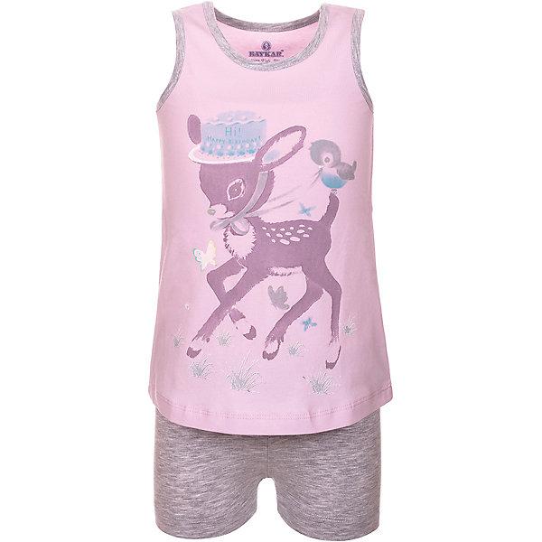 Пижама для девочки BaykarПижамы и сорочки<br>Характеристики товара:<br><br>• цвет: розовый<br>• состав ткани: 95% хлопок; 5% эластан<br>• комплектация: майка, шорты<br>• пояс шорт: резинка<br>• сезон: круглый год<br>• страна бренда: Турция<br>• страна изготовитель: Турция<br><br>Пижама для девочки Baykar украшена симпатичным принтом. Этот комплект для сна из майки и шорт сделан из мягкого дышащего материала. <br><br>Продуманный крой обеспечивает комфортную посадку. Розовая пижама для девочки позволяет обеспечить комфортный сон.<br><br>Пижаму для девочки Baykar (Байкар) можно купить в нашем интернет-магазине.<br><br>Ширина мм: 281<br>Глубина мм: 70<br>Высота мм: 188<br>Вес г: 295<br>Цвет: розовый<br>Возраст от месяцев: 36<br>Возраст до месяцев: 48<br>Пол: Женский<br>Возраст: Детский<br>Размер: 98/104,104/110,116/122,110/116<br>SKU: 6764827