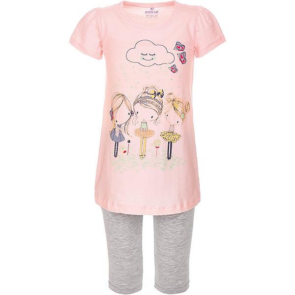 Пижама для девочки BaykarПижамы и сорочки<br>Характеристики товара:<br><br>• цвет: розовый<br>• состав ткани: 95% хлопок; 5% эластан<br>• комплектация: футболка, шорты<br>• пояс шорт: резинка<br>• сезон: круглый год<br>• страна бренда: Турция<br>• страна изготовитель: Турция<br><br>Пижама для девочки Baykar украшена симпатичным принтом. Этот комплект для сна из футболки и шорт сделан из мягкого дышащего материала. <br><br>Продуманный крой обеспечивает комфортную посадку. Розовая пижама для девочки позволяет обеспечить комфортный сон.<br><br>Пижаму для девочки Baykar (Байкар) можно купить в нашем интернет-магазине.<br>Ширина мм: 281; Глубина мм: 70; Высота мм: 188; Вес г: 295; Цвет: розовый; Возраст от месяцев: 36; Возраст до месяцев: 48; Пол: Женский; Возраст: Детский; Размер: 98/104,116/122,110/116,104/110; SKU: 6764842;