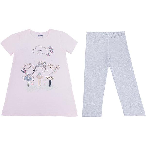 Пижама для девочки BaykarПижамы и сорочки<br>Характеристики товара:<br><br>• цвет: розовый<br>• состав ткани: 95% хлопок; 5% эластан<br>• комплектация: футболка, шорты<br>• пояс шорт: резинка<br>• сезон: круглый год<br>• страна бренда: Турция<br>• страна изготовитель: Турция<br><br>Розовая пижама для девочки позволяет обеспечить комфортный сон. Этот комплект для сна состоит из футболки и шорт, он сделан из мягкого дышащего материала. <br><br>Продуманный крой обеспечивает комфортную посадку. Пижама для девочки Baykar украшена симпатичным принтом.<br><br>Пижаму для девочки Baykar (Байкар) можно купить в нашем интернет-магазине.<br>Ширина мм: 281; Глубина мм: 70; Высота мм: 188; Вес г: 295; Цвет: розовый; Возраст от месяцев: 108; Возраст до месяцев: 120; Пол: Женский; Возраст: Детский; Размер: 134/140,140/146,128/134,122/128; SKU: 6764847;