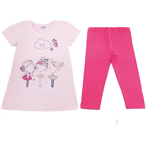Пижама для девочки BaykarПижамы и сорочки<br>Характеристики товара:<br><br>• цвет: розовый<br>• состав ткани: 95% хлопок; 5% эластан<br>• комплектация: футболка, шорты<br>• пояс шорт: резинка<br>• сезон: круглый год<br>• страна бренда: Турция<br>• страна изготовитель: Турция<br><br>Хлопковая пижама для девочки Baykar украшена симпатичным принтом. Этот комплект для сна сделан из мягкого дышащего материала. <br><br>Мягкая отделка краев и продуманный крой обеспечивают комфортную посадку. Розовая пижама для девочки позволяет обеспечить комфортный сон.<br><br>Пижаму для девочки Baykar (Байкар) можно купить в нашем интернет-магазине.<br><br>Ширина мм: 281<br>Глубина мм: 70<br>Высота мм: 188<br>Вес г: 295<br>Цвет: розовый<br>Возраст от месяцев: 36<br>Возраст до месяцев: 48<br>Пол: Женский<br>Возраст: Детский<br>Размер: 98/104,116/122,110/116,104/110<br>SKU: 6764852