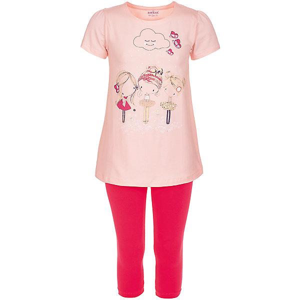 Пижама для девочки BaykarПижамы и сорочки<br>Характеристики товара:<br><br>• цвет: розовый<br>• состав ткани: 95% хлопок; 5% эластан<br>• комплектация: футболка, шорты<br>• пояс шорт: резинка<br>• сезон: круглый год<br>• страна бренда: Турция<br>• страна изготовитель: Турция<br><br>Удобная пижама для девочки Baykar украшена симпатичным принтом. Этот комплект для сна из футболки и шорт сделан из мягкого дышащего материала. <br><br>Продуманный крой обеспечивает комфортную посадку. Розовая пижама для девочки позволяет обеспечить комфортный сон.<br><br>Пижаму для девочки Baykar (Байкар) можно купить в нашем интернет-магазине.<br><br>Ширина мм: 281<br>Глубина мм: 70<br>Высота мм: 188<br>Вес г: 295<br>Цвет: розовый<br>Возраст от месяцев: 96<br>Возраст до месяцев: 108<br>Пол: Женский<br>Возраст: Детский<br>Размер: 128/134,140/146,134/140,122/128<br>SKU: 6764857