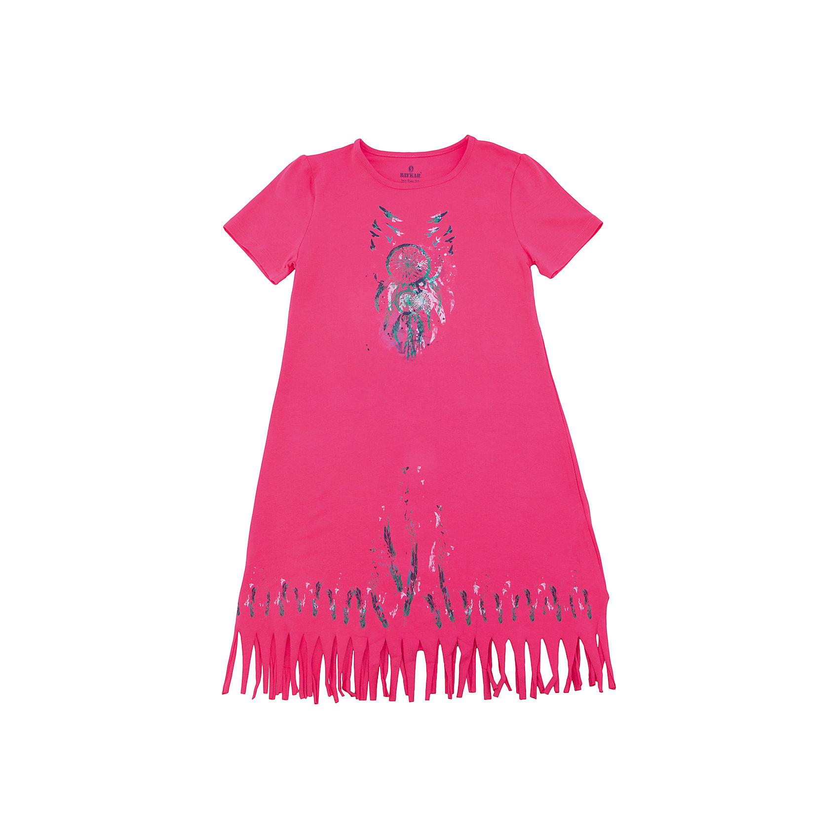 Сорочка для девочки BaykarПижамы и сорочки<br>Характеристики товара:<br><br>• цвет: розовый<br>• состав ткани: 95% хлопок; 5% эластан<br>• короткие рукава<br>• сезон: круглый год<br>• страна бренда: Турция<br>• страна изготовитель: Турция<br><br>Хлопковая сорочка для девочки Baykar украшена симпатичным принтом. Она сделана из мягкого дышащего материала. <br><br>Мягкая отделка краев и продуманный крой обеспечивают комфортную посадку. Розовая сорочка для девочки позволяет обеспечить комфортный сон.<br><br>Сорочку для девочки Baykar (Байкар) можно купить в нашем интернет-магазине.<br><br>Ширина мм: 281<br>Глубина мм: 70<br>Высота мм: 188<br>Вес г: 295<br>Цвет: розовый<br>Возраст от месяцев: 168<br>Возраст до месяцев: 180<br>Пол: Женский<br>Возраст: Детский<br>Размер: 164/170,152/158,158/164<br>SKU: 6764867
