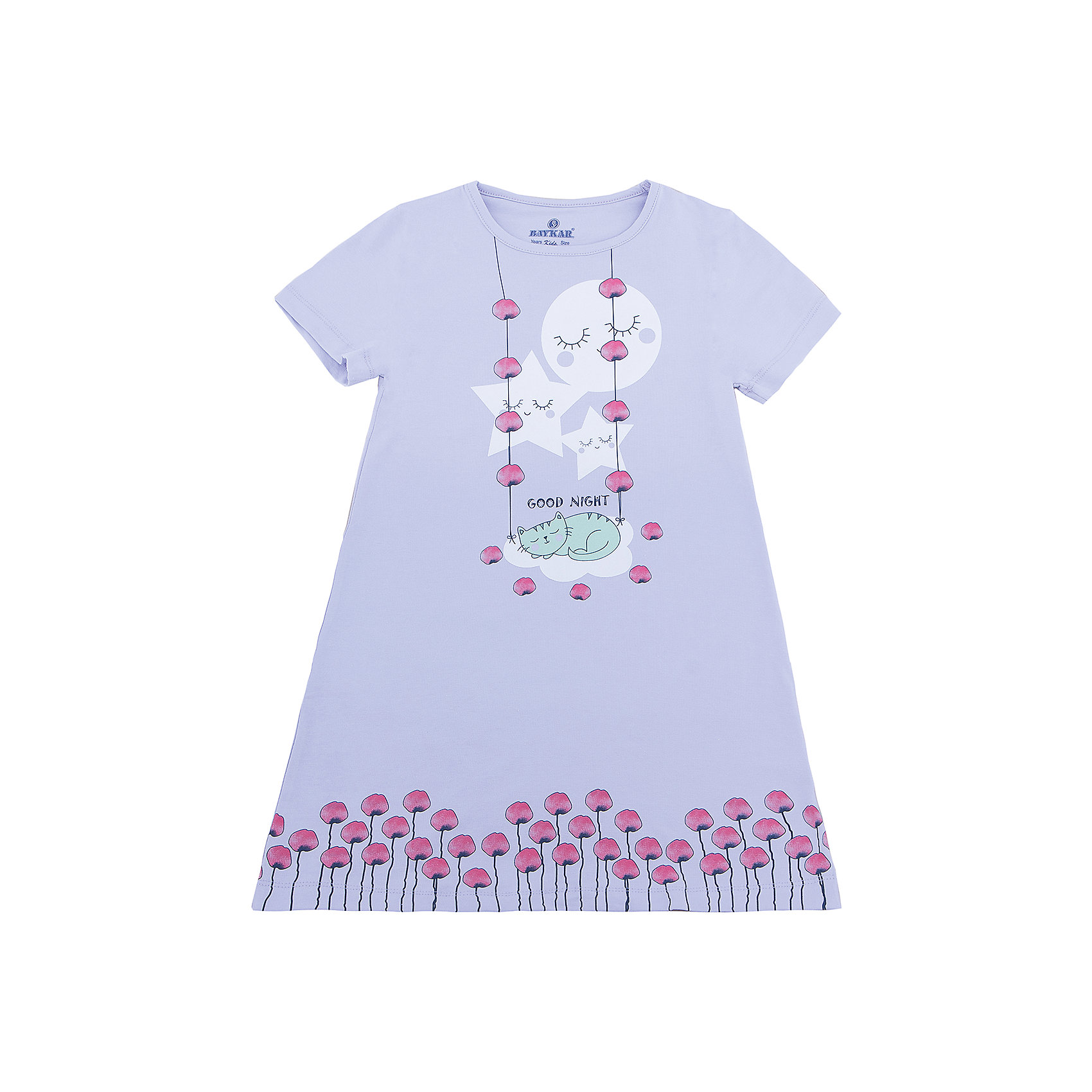 Сорочка для девочки BaykarПижамы и сорочки<br>Характеристики товара:<br><br>• цвет: розовый<br>• состав ткани: 95% хлопок; 5% эластан<br>• короткие рукава<br>• сезон: круглый год<br>• страна бренда: Турция<br>• страна изготовитель: Турция<br><br>Удобная сорочка для девочки Baykar украшена симпатичным принтом. Такая комфортная одежда для сна сделана из мягкого дышащего материала. <br><br>Продуманный крой обеспечивает комфортную посадку. Розовая сорочка для девочки позволяет обеспечить комфортный сон.<br><br>Сорочку для девочки Baykar (Байкар) можно купить в нашем интернет-магазине.<br><br>Ширина мм: 281<br>Глубина мм: 70<br>Высота мм: 188<br>Вес г: 295<br>Цвет: розовый<br>Возраст от месяцев: 72<br>Возраст до месяцев: 84<br>Пол: Женский<br>Возраст: Детский<br>Размер: 116/122,98/104,104/110,110/116<br>SKU: 6764871