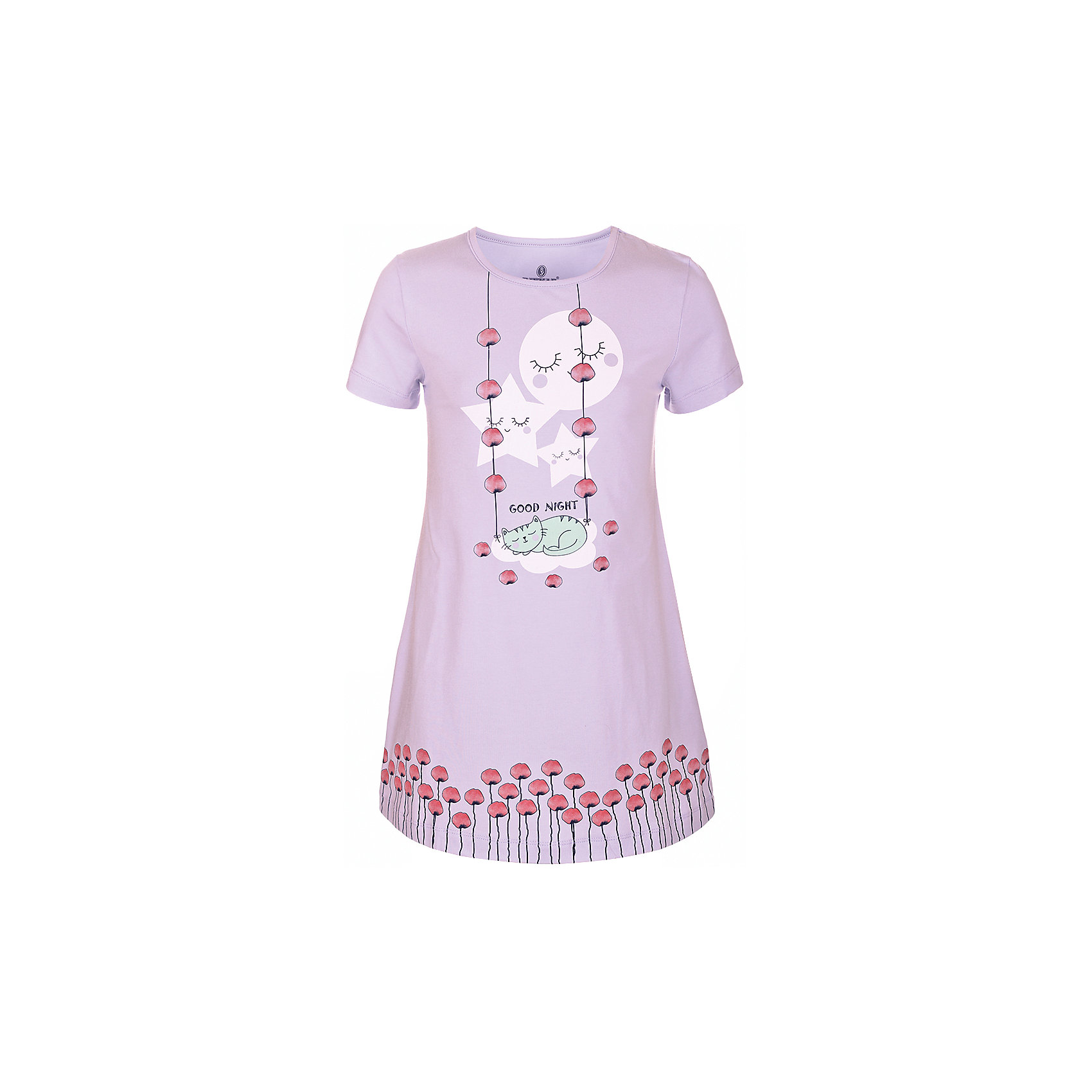 Сорочка для девочки BaykarПижамы и сорочки<br>Характеристики товара:<br><br>• цвет: сиреневый<br>• состав ткани: 95% хлопок; 5% эластан<br>• короткие рукава<br>• сезон: круглый год<br>• страна бренда: Турция<br>• страна изготовитель: Турция<br><br>Сиреневая сорочка для девочки позволяет обеспечить комфортный сон. Эта одежда для сна сделана из мягкого дышащего материала. <br><br>Продуманный крой обеспечивает комфортную посадку. Сорочка для девочки Baykar украшена симпатичным принтом.<br><br>Сорочку для девочки Baykar (Байкар) можно купить в нашем интернет-магазине.<br><br>Ширина мм: 281<br>Глубина мм: 70<br>Высота мм: 188<br>Вес г: 295<br>Цвет: розовый<br>Возраст от месяцев: 96<br>Возраст до месяцев: 108<br>Пол: Женский<br>Возраст: Детский<br>Размер: 128/134,134/140,140/146,122/128<br>SKU: 6764876