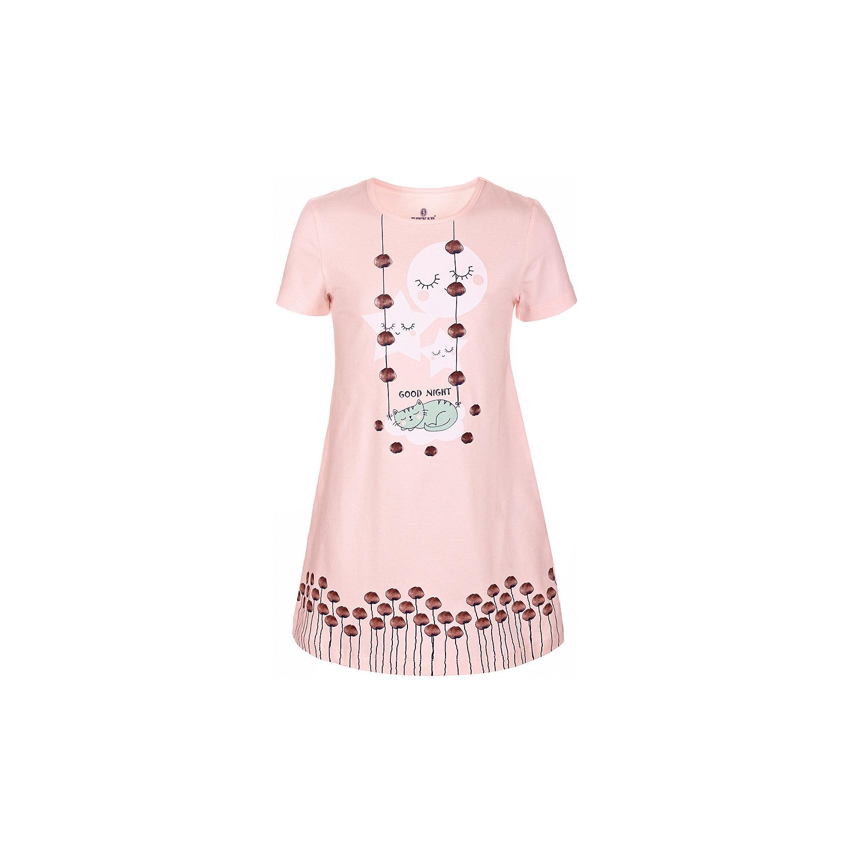 Сорочка для девочки BaykarПижамы и сорочки<br>Характеристики товара:<br><br>• цвет: розовый<br>• состав ткани: 95% хлопок; 5% эластан<br>• короткие рукава<br>• сезон: круглый год<br>• страна бренда: Турция<br>• страна изготовитель: Турция<br><br>Симпатичная розовая сорочка для девочки позволяет обеспечить комфортный сон. Эта одежда для сна сделана из мягкого дышащего материала. <br><br>Продуманный крой обеспечивает комфортную посадку. Сорочка для девочки Baykar украшена симпатичным принтом.<br><br>Сорочку для девочки Baykar (Байкар) можно купить в нашем интернет-магазине.<br><br>Ширина мм: 281<br>Глубина мм: 70<br>Высота мм: 188<br>Вес г: 295<br>Цвет: розовый<br>Возраст от месяцев: 48<br>Возраст до месяцев: 60<br>Пол: Женский<br>Возраст: Детский<br>Размер: 104/110,116/122,98/104,110/116<br>SKU: 6764881