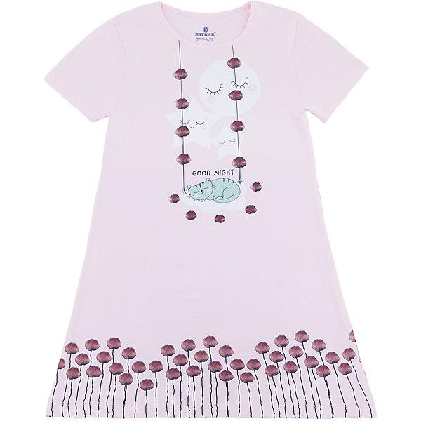 Сорочка для девочки BaykarПижамы и сорочки<br>Характеристики товара:<br><br>• цвет: розовый<br>• состав ткани: 95% хлопок; 5% эластан<br>• короткие рукава<br>• сезон: круглый год<br>• страна бренда: Турция<br>• страна изготовитель: Турция<br><br>Хлопковая сорочка для девочки Baykar украшена симпатичным принтом. Она сделана из мягкого дышащего материала. <br><br>Мягкая отделка краев и продуманный крой обеспечивают комфортную посадку. Розовая сорочка для девочки позволяет обеспечить комфортный сон.<br><br>Сорочку для девочки Baykar (Байкар) можно купить в нашем интернет-магазине.<br><br>Ширина мм: 281<br>Глубина мм: 70<br>Высота мм: 188<br>Вес г: 295<br>Цвет: розовый<br>Возраст от месяцев: 84<br>Возраст до месяцев: 96<br>Пол: Женский<br>Возраст: Детский<br>Размер: 122/128,134/140,128/134,140/146<br>SKU: 6764886