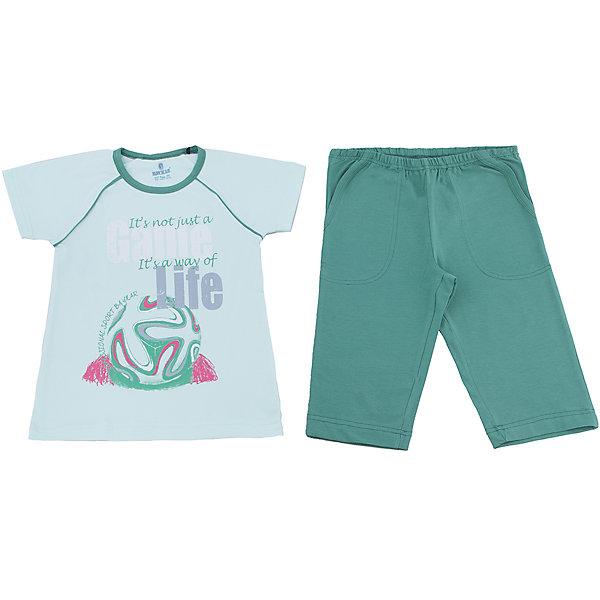 Пижама для мальчика BaykarПижамы и сорочки<br>Характеристики товара:<br><br>• цвет: зеленый<br>• состав ткани: хлопок, эластан<br>• комплектация: футболка, шорты<br>• пояс шорт: резинка<br>• сезон: круглый год<br>• страна бренда: Турция<br>• страна изготовитель: Турция<br><br>Эта зеленая пижама для мальчика позволяет обеспечить комфортный сон. Такой комплект для сна состоит из футболки и шорт, он сделан из мягкого дышащего материала. <br><br>Продуманный крой обеспечивает комфортную посадку. Пижама для мальчика Baykar украшена симпатичным принтом.<br><br>Пижаму для мальчикаBaykar (Байкар) можно купить в нашем интернет-магазине.<br><br>Ширина мм: 281<br>Глубина мм: 70<br>Высота мм: 188<br>Вес г: 295<br>Цвет: зеленый<br>Возраст от месяцев: 36<br>Возраст до месяцев: 48<br>Пол: Мужской<br>Возраст: Детский<br>Размер: 98/104,116/122,110/116,104/110<br>SKU: 6764901