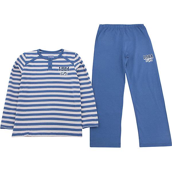 Пижама для мальчика BaykarПижамы и сорочки<br>Характеристики товара:<br><br>• цвет: синий<br>• состав ткани: 95% хлопок; 5% эластан<br>• комплектация: кофта, брюки<br>• пояс брюк: резинка<br>• сезон: круглый год<br>• страна бренда: Турция<br>• страна изготовитель: Турция<br><br>Качественная пижама для мальчика позволяет обеспечить комфортный сон. Пижама для мальчика Baykar украшена симпатичным принтом. <br><br>Такой комплект для сна из кофты и брюк сделан из мягкого дышащего материала. Продуманный крой обеспечивает комфортную посадку. <br><br>Пижаму для мальчика Baykar (Байкар) можно купить в нашем интернет-магазине.<br><br>Ширина мм: 281<br>Глубина мм: 70<br>Высота мм: 188<br>Вес г: 295<br>Цвет: синий<br>Возраст от месяцев: 120<br>Возраст до месяцев: 132<br>Пол: Мужской<br>Возраст: Детский<br>Размер: 140/146,134/140,128/134,122/128<br>SKU: 6764921