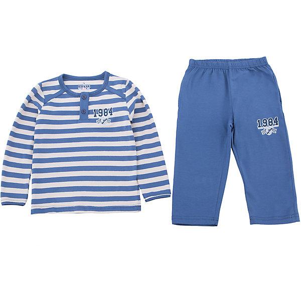 Пижама для мальчика BaykarПижамы и сорочки<br>Характеристики товара:<br><br>• цвет: синий<br>• состав ткани: 95% хлопок; 5% эластан<br>• комплектация: кофта, брюки<br>• пояс брюк: резинка<br>• сезон: круглый год<br>• страна бренда: Турция<br>• страна изготовитель: Турция<br><br>Хорошо подобранная пижама для мальчика позволяет обеспечить комфортный сон. Пижама для мальчика Baykar украшена симпатичным принтом. <br><br>Этот комплект для сна из кофты и брюк сделан из мягкого дышащего материала. Продуманный крой обеспечивает комфортную посадку. <br><br>Пижаму для мальчика Baykar (Байкар) можно купить в нашем интернет-магазине.<br>Ширина мм: 281; Глубина мм: 70; Высота мм: 188; Вес г: 295; Цвет: синий; Возраст от месяцев: 18; Возраст до месяцев: 24; Пол: Мужской; Возраст: Детский; Размер: 80/92,92/98; SKU: 6764937;