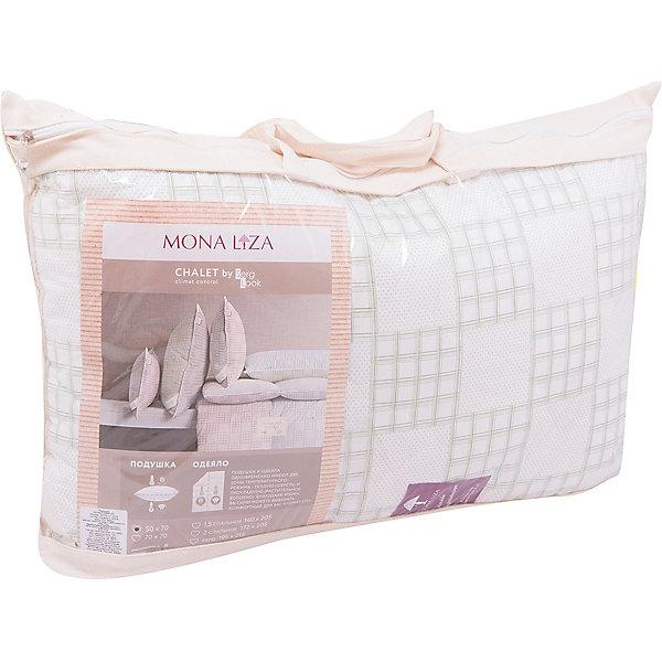 Подушка 50*70 Chalet Climat Control тик, Mona Liza,  серый/олива