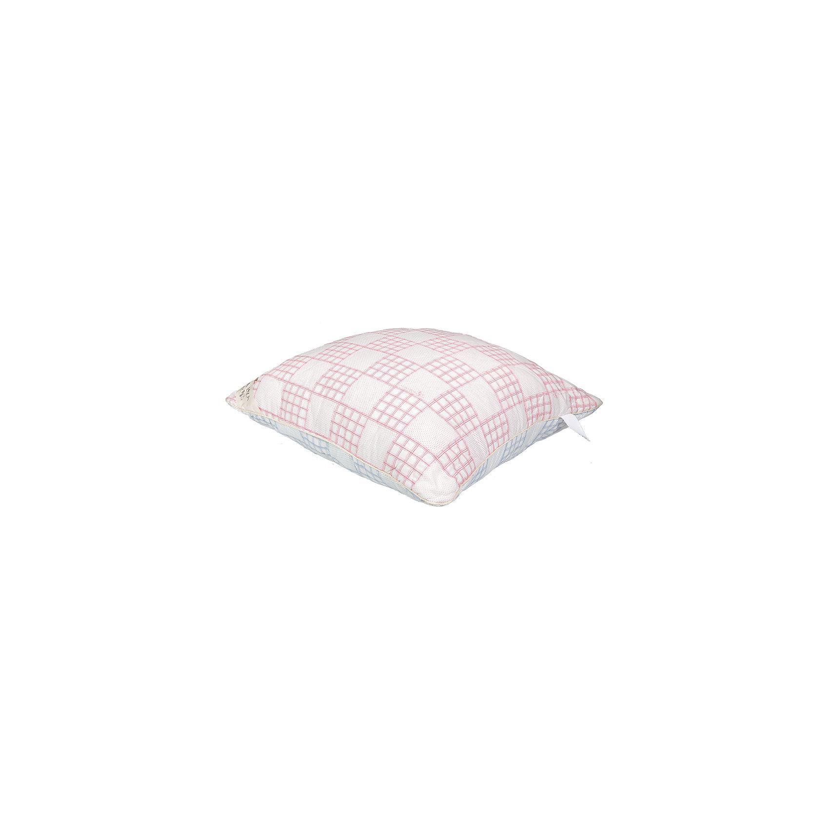Подушка 70*70 Chalet Climat Control тик, Mona Liza, роза/грозовойДомашний текстиль<br>Характеристики:<br><br>• тёплая и прохладная стороны<br>• тёплая сторона из шерсти<br>• прохладная сторона из растительных волокон<br>• размер подушки: 70х70 см<br>• наполнитель: искусственный пух<br>• размер упаковки: 70х20х70 см<br>• вес: 1300 грамм<br><br>Подушка Chalet Climat Control обеспечит вам комфортный отдых в любое время года. Подушка имеет две стороны - тёплая и прохладная. Теплая сторона согреет вас зимой, а прохладная защитит от перегрева в жару. Розовый цвет подушки относится к тёплой стороне, а синий - к холодной. <br><br>Подушка легко восстанавливает форму и хорошо поддается чистке. Высококачественные материалы гарантируют долгий срок службы подушки.  Внутренний наполнитель, придающий подушке упругость, хорошо поддерживает голову и шею. Приятный верхний материал обеспечит вам комфорт во время сна.<br><br>Подушку 70*70 Chalet Climat Control тик, Mona Liza (Мона Лиза), роза/грозовой вы можете купить в нашем интернет-магазине.<br><br>Ширина мм: 700<br>Глубина мм: 200<br>Высота мм: 700<br>Вес г: 1300<br>Возраст от месяцев: 84<br>Возраст до месяцев: 600<br>Пол: Унисекс<br>Возраст: Детский<br>SKU: 6765306