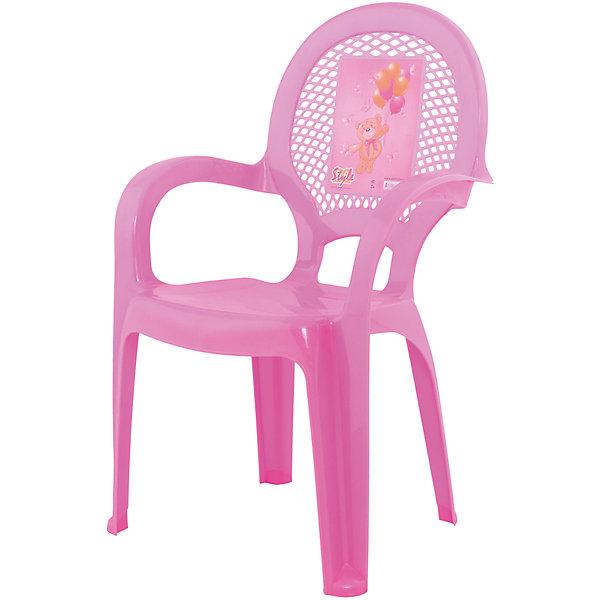 Стул Мишутка, розовыйДетские столы и стулья<br>Яркий, удобный стульчик для вашего малыша. Изделие изготовлено из высококачественной пластмассы с использованием современных технологий. Все условия для комфорта вашего малыша: спинка высокая, на спинке имеется рисунок, спинка сетчатая, эргономичные подлокотники, форма компактная и удобная для хранения - стулья можно составить один в другой, легко моется водой с любым моющим средством. <br><br>Дополнительная информация:<br><br>Материал: пластик.<br>Размер: высота - 55 см.<br>Цвет: розовый.<br><br><br>Детский стульчик с рисунком в розовом цвете, можно купить в нашем магазине.<br><br>Ширина мм: 350<br>Глубина мм: 280<br>Высота мм: 570<br>Вес г: 600<br>Возраст от месяцев: 24<br>Возраст до месяцев: 84<br>Пол: Унисекс<br>Возраст: Детский<br>SKU: 6767437