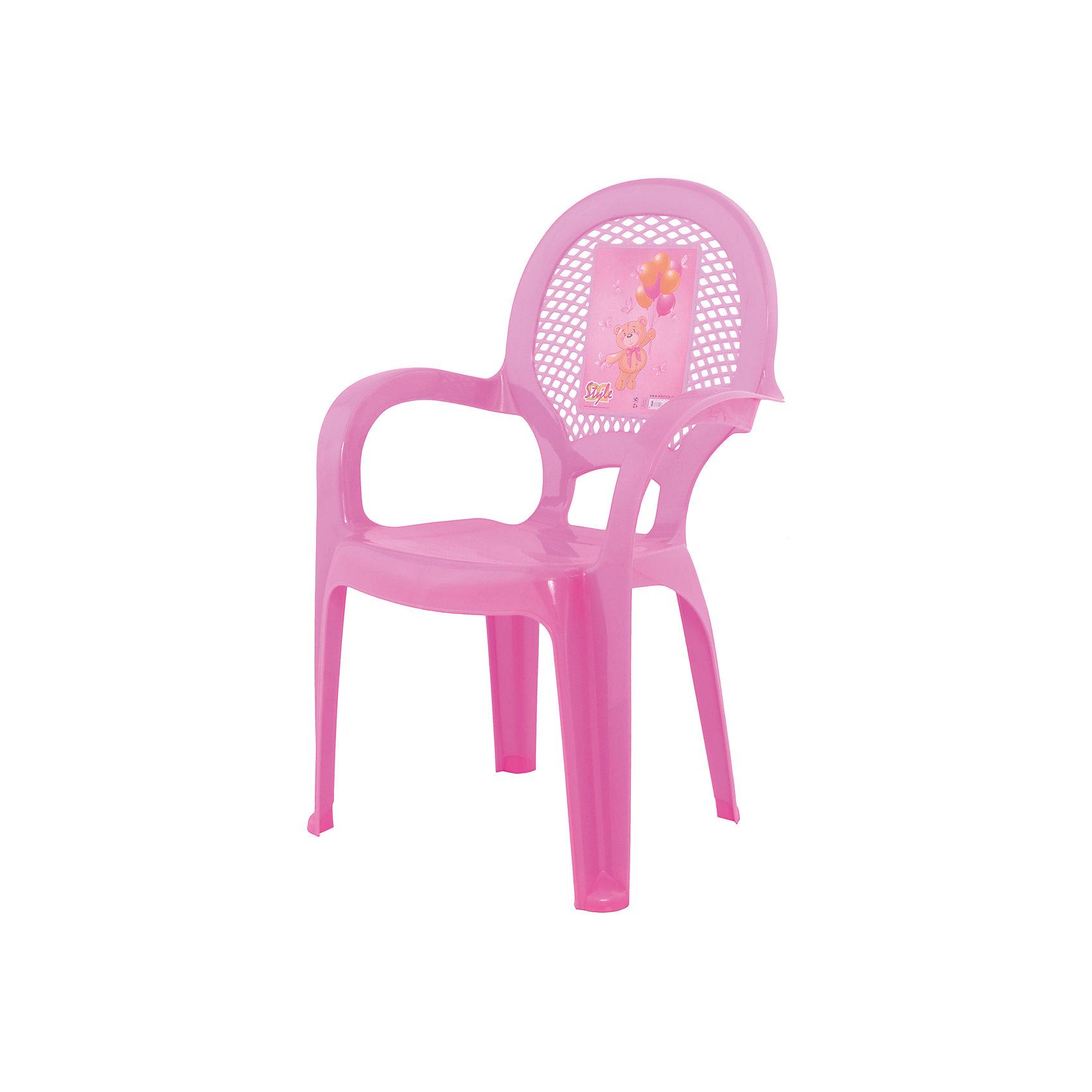 Стул Мишутка, розовыйМебель<br>Яркий, удобный стульчик для вашего малыша. Изделие изготовлено из высококачественной пластмассы с использованием современных технологий. Все условия для комфорта вашего малыша: спинка высокая, на спинке имеется рисунок, спинка сетчатая, эргономичные подлокотники, форма компактная и удобная для хранения - стулья можно составить один в другой, легко моется водой с любым моющим средством. <br><br>Дополнительная информация:<br><br>Материал: пластик.<br>Размер: высота - 55 см.<br>Цвет: розовый.<br><br><br>Детский стульчик с рисунком в розовом цвете, можно купить в нашем магазине.<br><br>Ширина мм: 9999<br>Глубина мм: 9999<br>Высота мм: 9999<br>Вес г: 600<br>Возраст от месяцев: 24<br>Возраст до месяцев: 84<br>Пол: Унисекс<br>Возраст: Детский<br>SKU: 6767437