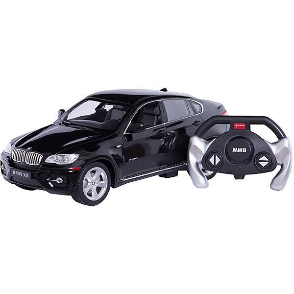 Радиоуправляемая машина BMW X6 1:14, Rastar, чернаяРадиоуправляемые машины<br>Характеристики товара:<br><br>• возраст: от 6 лет;<br>• материал: пластик;<br>• в комплекте: машина, пульт;<br>• тип батареек: 5 батареек АА (для машины), 1 батарейка 9V (для пульта);<br>• наличие батареек: в комплект не входят;<br>• масштаб машины: 1:14;<br>• длина машины: 35 см;<br>• дальность пульта: 35 метров;<br>• размер упаковки: 45,5х21,5х19,5 см;<br>• вес упаковки: 1,36 кг;<br>• страна производитель: Китай.<br><br>Радиоуправляемая машина BMW X6 Rastar черная представляет собой уменьшенную в масштабе 1:14 копию настоящего автомобиля BMW. Управляется машина при помощи пульта управления. Она может ездить вперед, поворачивать, разворачиваться, сдавать назад. При помощи пульта можно отрегулировать скорость движения. При движении у машинки горят фары и стоп-сигналы. Машинка способна достигать скорости до 12 км/час. Изготовлена из качественного прочного пластика.<br><br>Радиоуправляемую машину BMW X6 Rastar черную можно приобрести в нашем интернет-магазине.<br><br>Ширина мм: 455<br>Глубина мм: 215<br>Высота мм: 195<br>Вес г: 1360<br>Возраст от месяцев: 72<br>Возраст до месяцев: 2147483647<br>Пол: Мужской<br>Возраст: Детский<br>SKU: 6767706