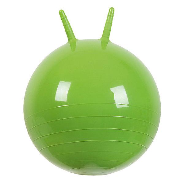 Мяч Прыгун с рожками, 50 см, зеленый, МалышОКПрыгуны и джамперы<br>Характеристики товара:<br><br>• возраст: от 3 лет;<br>• материал: ПВХ;<br>• диаметр мяча: 50 см;<br>• размер упаковки: 25,4х15,3х12,2 см;<br>• вес упаковки: 700 гр.;<br>• страна производитель: Китай.<br><br>Мяч Прыгун с рожками «МалышОК» зеленый — отличный тренажер для детей от 3 лет. Сидя на нем и держась за рожки, малыш тренирует координацию движений, тренирует мышцы, формирует осанку. Мяч подойдет для использования как дома, так и на улице.<br><br>Мяч Прыгун с рожками «МалышОК» зеленый можно приобрести в нашем интернет-магазине.<br>Ширина мм: 122; Глубина мм: 153; Высота мм: 254; Вес г: 700; Возраст от месяцев: 48; Возраст до месяцев: 2147483647; Пол: Унисекс; Возраст: Детский; SKU: 6767720;