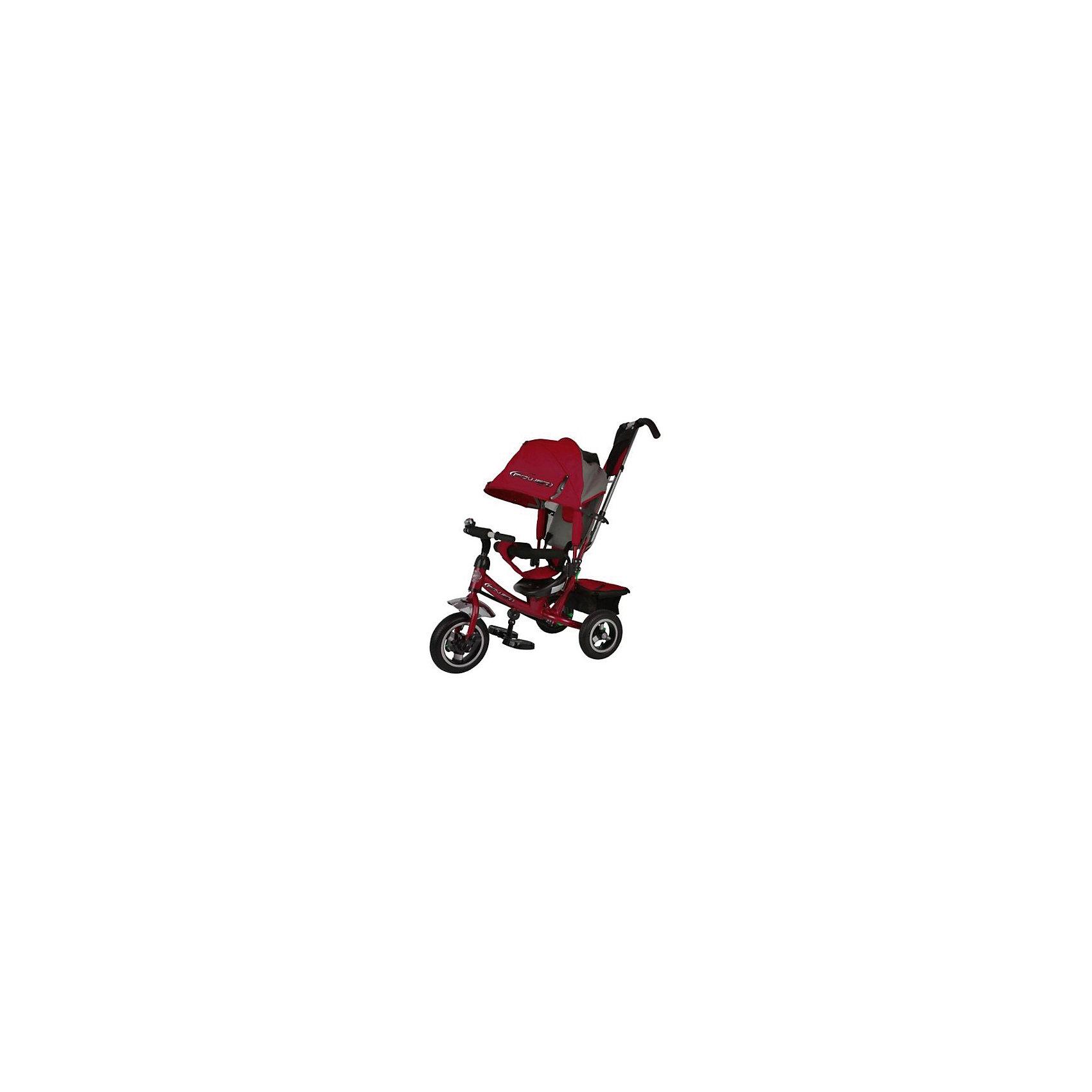 Трехколесный велосипед, бордовый, PowerВелосипеды детские<br><br><br>Ширина мм: 620<br>Глубина мм: 280<br>Высота мм: 400<br>Вес г: 12000<br>Возраст от месяцев: 12<br>Возраст до месяцев: 48<br>Пол: Унисекс<br>Возраст: Детский<br>SKU: 6768032