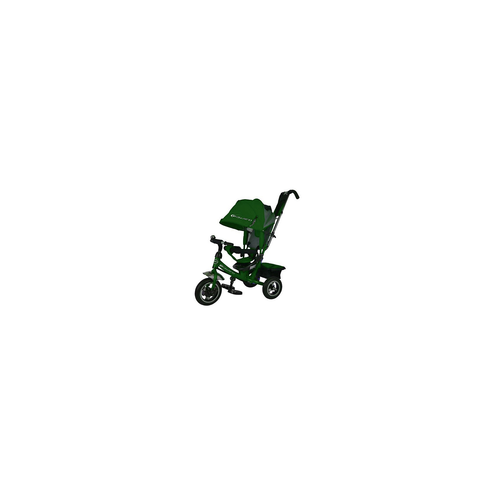 Трехколесный велосипед, зеленый, PowerВелосипеды детские<br><br><br>Ширина мм: 620<br>Глубина мм: 280<br>Высота мм: 400<br>Вес г: 12000<br>Возраст от месяцев: 12<br>Возраст до месяцев: 48<br>Пол: Унисекс<br>Возраст: Детский<br>SKU: 6768033