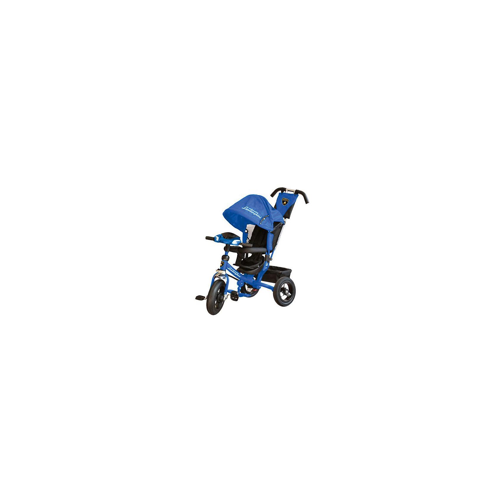 Трехколесный велосипед, синий, LamborghiniВелосипеды детские<br><br><br>Ширина мм: 660<br>Глубина мм: 380<br>Высота мм: 420<br>Вес г: 16000<br>Возраст от месяцев: 12<br>Возраст до месяцев: 48<br>Пол: Унисекс<br>Возраст: Детский<br>SKU: 6768036