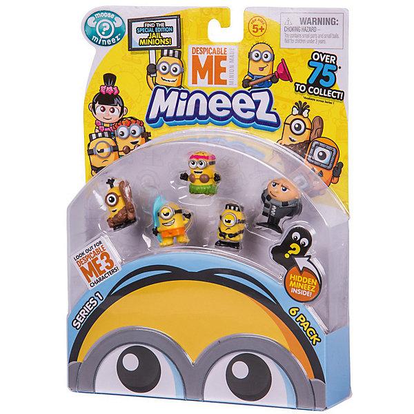 Набор фигурок «Гадкий Я 3», 6 штук, МиньоныФигурки из мультфильмов<br>Характеристики товара:<br><br>• возраст: от 5 лет;<br>• материал: пластик;<br>• в комплекте: 6 фигурок, памятка;<br>• высота фигурки: 2,5 см;<br>• размер упаковки: 23х17х4 см;<br>• вес упаковки: 116 гр.;<br>• страна производитель: Китай.<br><br>Набор фигурок «Гадкий я 3» Миньоны представляет собой популярных героев известного мультфильма. Миньоны — желтые смешные существа, которые вечно попадают в неприятности. Фигурки упакованы в прозрачную упаковку. Одна из фигурок спрятана под непрозрачной пленкой. Какой именно персонаж попадется, можно узнать только после открытия упаковки.<br><br>В коллекции представлено 75 героев из разных серий. Памятка коллекционера поможет разобраться в их разнообразии. Там также имеется поле, где можно отметить уже имеющуюся фигурку.<br><br>Набор фигурок «Гадкий я 3» Миньоны 6 шт. можно приобрести в нашем интернет-магазине.<br><br>Ширина мм: 4<br>Глубина мм: 170<br>Высота мм: 230<br>Вес г: 116<br>Возраст от месяцев: 60<br>Возраст до месяцев: 2147483647<br>Пол: Унисекс<br>Возраст: Детский<br>SKU: 6769732
